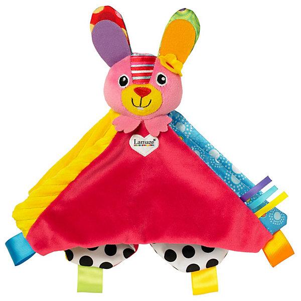 Игрушка Зайка Белла, LamazeИгрушки для новорожденных<br>Оригинальная игрушка- погремушка для малышей. Выполнена из ярких  материалов разной текстуры, она прекрасно развивает тактильные ощущения, цветовосприятие, мелкую моторику; учит различать формы. Прекрасно подходит для маленьких детских ручек. Игрушка изготовлена из высококачественных материалов, безопасных для детей. <br><br>Дополнительная информация:<br><br>- Размер: 25х25х10 см<br>- Материал: текстиль<br>- Цвет: красный, желтый, голубой, розовый.<br>- звуковые эффекты: есть.<br><br>Игрушку Зайка Белла, Lamaze можно купить в нашем магазине.<br><br>Ширина мм: 315<br>Глубина мм: 188<br>Высота мм: 57<br>Вес г: 85<br>Возраст от месяцев: 0<br>Возраст до месяцев: 12<br>Пол: Женский<br>Возраст: Детский<br>SKU: 3592715