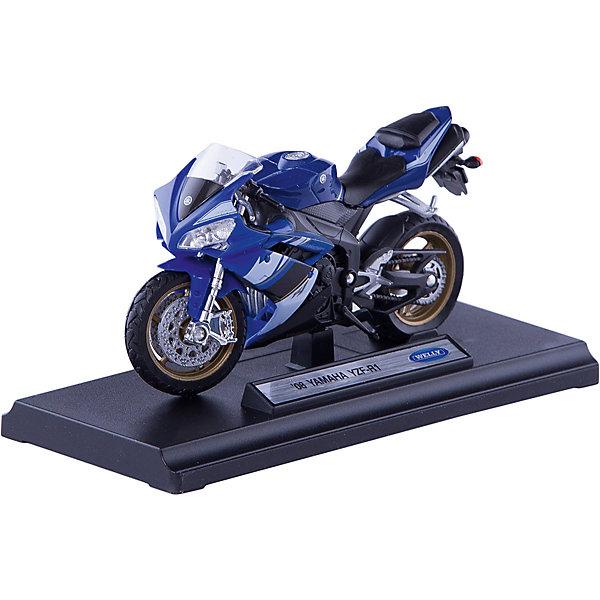 Модель мотоцикла 1:18 Yamaha YZF-R1 , WellyМашинки<br>Модель мотоцикла 1:18 Yamaha YZF-R1 , Welly (Велли) —  точно выполненная копия настоящего мотоцикла Yamaha YZF-R1. Корпус игрушки выполнен литьем, что обеспечивает прочность и высокую степень детализации.<br><br>Модель мотоцикла Yamaha YZF-R1 в масштабе  1:18 понравится и малышам, и взрослым ребятам.<br><br>Дополнительная информация:<br><br>- Размер: 17 х 7 х 11 см<br>- Материал: металл, пластик.<br>- Вес: 150 г.<br><br>Модель мотоцикла 1:18 Yamaha YZF-R1 , Welly (Велли) можно купить в нашем интернет-магазине.<br><br>Ширина мм: 170<br>Глубина мм: 70<br>Высота мм: 110<br>Вес г: 150<br>Возраст от месяцев: 36<br>Возраст до месяцев: 192<br>Пол: Мужской<br>Возраст: Детский<br>SKU: 3593298