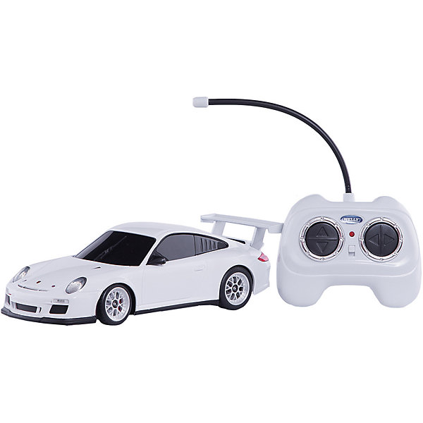 Модель машины 1:24 Porsche 911 GT3 Cup, р/у, WellyМашинки<br>Модель машины 1:24 Porsche 911 GT3 Cup, р/у, Welly (Велли) — уменьшенная копия настоящего автомобиля Porsche 911 GT3 Cup. Машинка выполнена с высокой степенью детализации и управляется с помощью пульта.  Модель может двигаться в четырех направлениях (вперед, назад, влево, вправо).<br>Игра с машинками отлично развивает воображение и мелкую моторику.<br>Машинка на радиоуправлении — мечта любого мальчишки!<br><br>Дополнительная информация:<br><br>- Размер: 26,5 х 11 х 13 см<br>- Материал: пластик<br>- Радиус действия пульта: 30 м<br>- Батарейки: 5 х ААА, в комплект не входят.<br>- Вес: 500 г.<br><br>Модель машины 1:24 Porsche 911 GT3 Cup, р/у, Welly (Велли) можно купить в нашем интернет-магазине.<br><br>Ширина мм: 265<br>Глубина мм: 110<br>Высота мм: 130<br>Вес г: 500<br>Возраст от месяцев: 60<br>Возраст до месяцев: 192<br>Пол: Мужской<br>Возраст: Детский<br>SKU: 3593300
