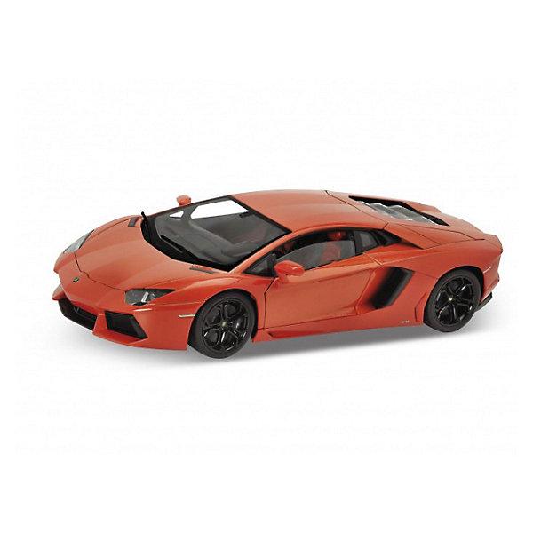 Модель машины 1:18 Lamborghini Aventador, WellyМашинки<br>Модель машины 1:18 Lamborghini Aventador, Welly (Велли) — миниатюрная копия спорткара Lamborghini выполненная с точным соблюдением всех деталей оригинала. Металлический корпус маленького автомобиля изготовлен литьевым способом, что обеспечивает высокую точность и долговечность игрушки.<br><br>Игра с машинками отлично развивает воображение и мелкую моторику.<br><br>Игрушечные машинки – незаменимый спутник роста и развития мальчиков!<br><br>Дополнительная информация:<br><br>- Размер: 33 х 14 х 16 см<br>- Материал: металл, пластик<br>- Вес: 170 г.<br><br>Модель машины 1:18 Lamborghini Aventador, Welly (Велли) можно купить в нашем интернет-магазине.<br><br>Ширина мм: 330<br>Глубина мм: 140<br>Высота мм: 160<br>Вес г: 1070<br>Возраст от месяцев: 36<br>Возраст до месяцев: 192<br>Пол: Мужской<br>Возраст: Детский<br>SKU: 3593302