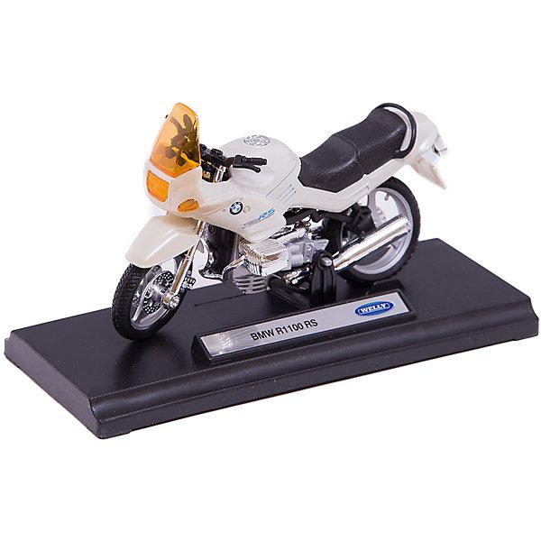 Модель мотоцикла 1:18 BMW R1100RS, WellyМашинки<br>Модель мотоцикла 1:18 BMW R1100RS, Welly (Велли) -  точная копия настоящего мотоцикла, выполненная из металла и пластика. Корпус выполнен литьевым способом и поэтому модель обладает высокой степенью детализации.<br><br>Миниатюрная модель мотоцикла BMW R1100RS в масштабе 1:18 станет отличным подарком коллекционерам!<br><br>Дополнительная информация:<br><br>- Колёса вращаются, руль поворачивается<br>- Есть прочная подставка, чтобы мотоцикл имел устойчивую опору.<br>- Размер: 17 х 7 х 11 см<br>- Материал: металл, пластик<br>- Вес: 170 г.<br><br>Модель мотоцикла 1:18 BMW R1100RS, Welly (Велли) можно купить в нашем интернет-магазине.<br>Ширина мм: 170; Глубина мм: 70; Высота мм: 110; Вес г: 170; Возраст от месяцев: 36; Возраст до месяцев: 192; Пол: Мужской; Возраст: Детский; SKU: 3593305;