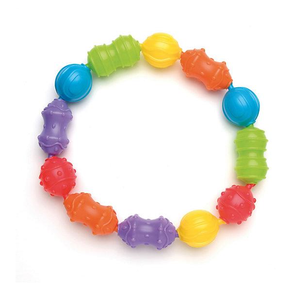 Игрушка-цепочка, PlaygroПустышки<br>Красочная игрушка-цепочка, Playgro (Плейгро) с множеством вариантов комбинаций несомненно, привлечет внимание малыша.<br>Игровой набор состоит из 12 разнообразных по форме и цвету фигур, с различными выпуклыми рисунками. Малыш легко может крепить их между собой в произвольном порядке, комбинируя цвета и формы. В процессе игры успешно развивается моторика пальчиков, сенсорное и цветовое восприятие, ребенок знакомится с формами. Дети более старшего возраста могут использовать игрушку для получения навыков счета. Игрушку можно присоединять к коляске или автокреслу. Изготовлена игрушка из экологически чистого и безопасного материала.<br><br>Дополнительная информация:<br><br>- Материалы: безопасный пластик<br>- Размер звеньев: 4х8 см, 4х5 см.<br><br>Игрушку-цепочку, Playgro (Плейгро)  можно купить в нашем интернет-магазине.<br>Ширина мм: 63; Глубина мм: 225; Высота мм: 250; Вес г: 311; Возраст от месяцев: 0; Возраст до месяцев: 12; Пол: Унисекс; Возраст: Детский; SKU: 3599515;