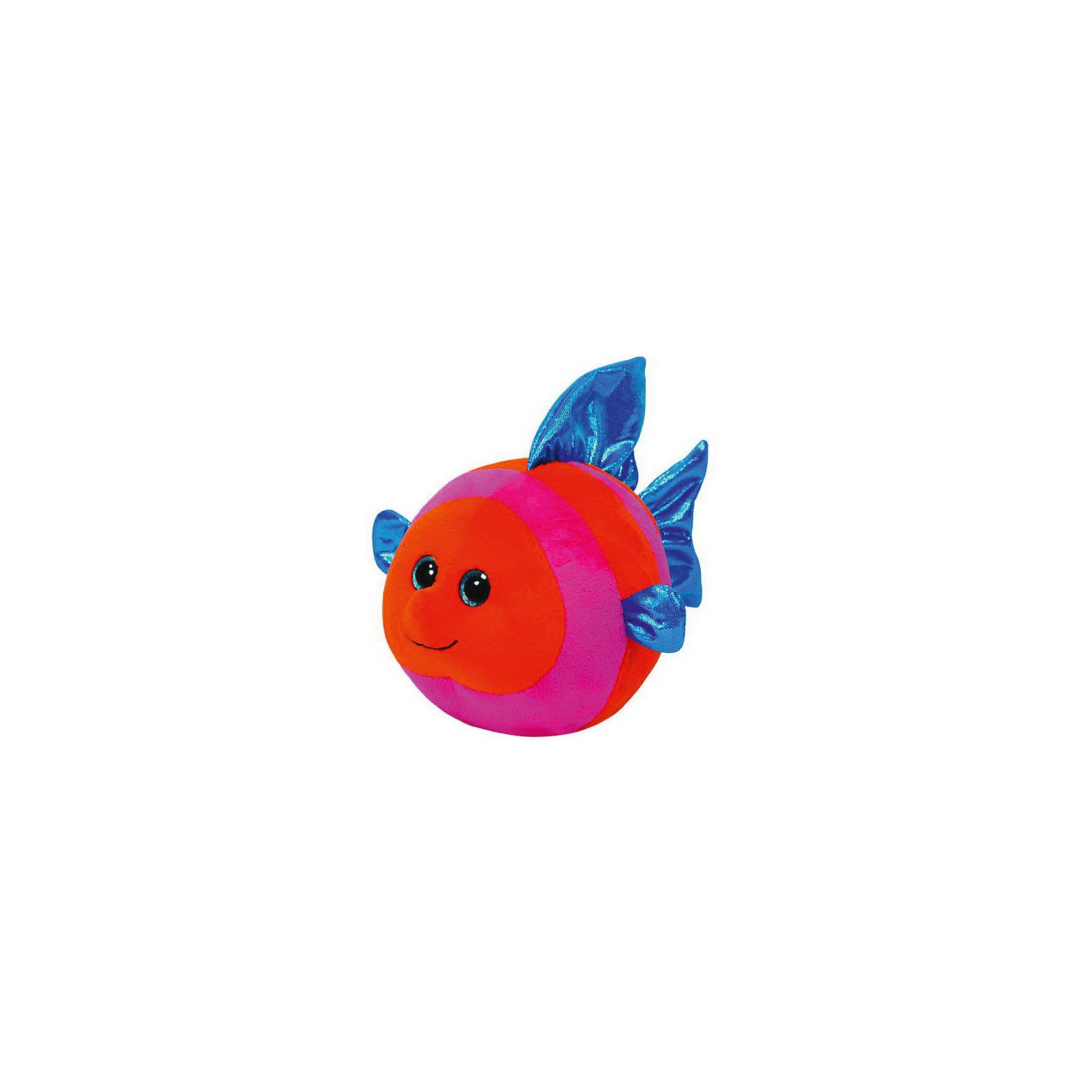 Рыбка Splashy , 12,7 смЗвери и птицы<br>Рыбка Splashy, 12,7 см – игрушка от бренда TY Inc (ТАЙ Инкорпорейтед), знаменитого своими мягкими игрушками, в качестве наполнителя для которых используются гранулы. Рыбка выполнена из качественного и гипоаллергенного плюша в розово-красных тонах, плавники и хвост – из блестящего текстиля. У игрушки большие выразительные глаза. Используемые материалы делают игрушку прочной, устойчивой к изменению цвета и формы, ее разрешается стирать.<br>Рыбка Splashy, 12,7 см TY Inc непременно станет любимой игрушкой для вашего ребенка, а уникальный наполнитель будет способствовать  не  только развитию мелкой моторики пальцев, но и оказывать релаксирующее воздействие. <br><br>Дополнительная информация:<br><br>- Вид игр: сюжетно-ролевые игры, интерьерные игрушки, для коллекционирования<br>- Предназначение: для дома<br>- Материал: плюш, пластик, наполнитель ? гранулы<br>- Высота: 12,7 см <br>- Особенности ухода: разрешается стирка<br>Подробнее:<br><br>• Для детей в возрасте: от 12 месяцев и до 5 лет <br>• Страна производитель: Китай<br>• Торговый бренд: TY Inc <br><br>Рыбку Splashy, 12,7 см можно купить в нашем интернет-магазине.<br><br>Ширина мм: 169<br>Глубина мм: 126<br>Высота мм: 106<br>Вес г: 94<br>Возраст от месяцев: 12<br>Возраст до месяцев: 60<br>Пол: Унисекс<br>Возраст: Детский<br>SKU: 3600618