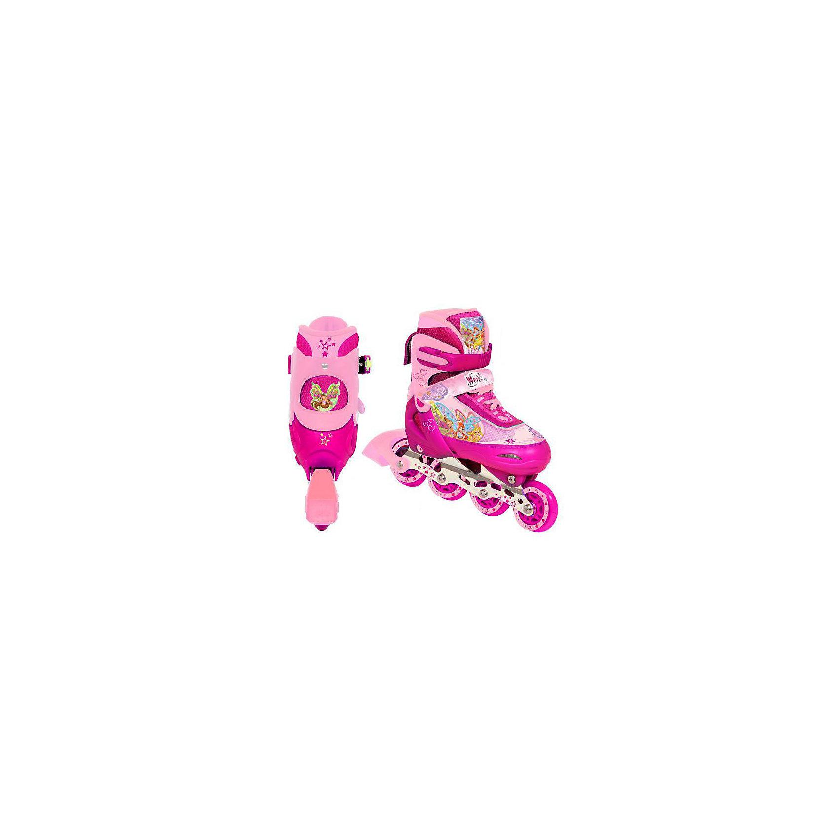 Роликовые коньки с алюминиевой рамой, Winx Club