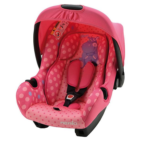 Автокресло Nania Beone SP 0-13 кг, hippoГруппа 0+  (до 13 кг)<br>Автокресло Beone SP от Nania разработано специально для новорожденных и гарантирует комфорт и безопасность маленького пассажира во время поездки в автомобиле. Каркас кресла имеет удобную анатомическую форму и поддерживает неокрепшие мышцы малыша, внутри мягкая подушка. Кресло оснащено регулируемыми 3-точечными ремнями безопасности с 3-мя уровнями регулировки по высоте и мягкими плечевыми накладками. Особая конструкция с двойными стенками и расширением в области головы гарантирует оптимальную защиту при боковом ударе. Солнцезащитный козырек не допускает попадания прямых солнечных лучей и пропускает воздух. Тканевую обивку и подушку можно снимать и стирать при щадящем режиме.<br><br>Кресло также может использоваться как качалка и детская переноска. Имеется эргономичная ручка для транспортировки. Кресло устанавливается на заднем сиденье против хода движения автомобиля при помощи штатных ремней безопасности. Благодаря специальной системе крепления автокресло Beone SP легко и надежно фиксируется в автомобиле.<br><br>Автокресло Beone SP рассчитано на детей с рождения до 12 мес., весом 0-13 кг.<br>     <br>Дополнительная информация:<br><br>- Цвет: hippo (бегемот).<br>- Материал: полиэстер, пластик.<br>- Внешние размеры: 70 х 47 х 40 см.<br>- Внутренние размеры: 32 х 30 см.<br>- Высота спинки: 46 см.<br>- Вес: 3,2 кг. <br><br>Автокресло Beone SP Nania можно купить в нашем интернет-магазине.<br><br>Ширина мм: 390<br>Глубина мм: 720<br>Высота мм: 400<br>Вес г: 7690<br>Возраст от месяцев: 0<br>Возраст до месяцев: 12<br>Пол: Унисекс<br>Возраст: Детский<br>SKU: 3607049