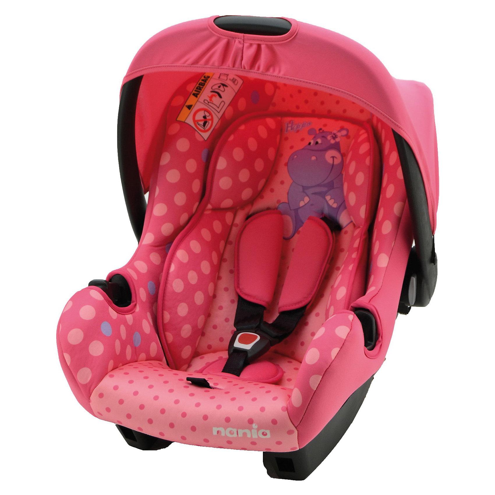 Автокресло Beone SP, 0-13 кг., Nania (hippo)Автокресло Beone SP от Nania разработано специально для новорожденных и гарантирует комфорт и безопасность маленького пассажира во время поездки в автомобиле. Каркас кресла имеет удобную анатомическую форму и поддерживает неокрепшие мышцы малыша, внутри мягкая подушка. Кресло оснащено регулируемыми 3-точечными ремнями безопасности с 3-мя уровнями регулировки по высоте и мягкими плечевыми накладками. Особая конструкция с двойными стенками и расширением в области головы гарантирует оптимальную защиту при боковом ударе. Солнцезащитный козырек не допускает попадания прямых солнечных лучей и пропускает воздух. Тканевую обивку и подушку можно снимать и стирать при щадящем режиме.<br><br>Кресло также может использоваться как качалка и детская переноска. Имеется эргономичная ручка для транспортировки. Кресло устанавливается на заднем сиденье против хода движения автомобиля при помощи штатных ремней безопасности. Благодаря специальной системе крепления автокресло Beone SP легко и надежно фиксируется в автомобиле.<br><br>Автокресло Beone SP рассчитано на детей с рождения до 12 мес., весом 0-13 кг.<br>     <br>Дополнительная информация:<br><br>- Цвет: hippo (бегемот).<br>- Материал: полиэстер, пластик.<br>- Внешние размеры: 70 х 47 х 40 см.<br>- Внутренние размеры: 32 х 30 см.<br>- Высота спинки: 46 см.<br>- Вес: 3,2 кг. <br><br>Автокресло Beone SP Nania можно купить в нашем интернет-магазине.<br><br>Ширина мм: 390<br>Глубина мм: 720<br>Высота мм: 400<br>Вес г: 7690<br>Возраст от месяцев: 0<br>Возраст до месяцев: 12<br>Пол: Унисекс<br>Возраст: Детский<br>SKU: 3607049