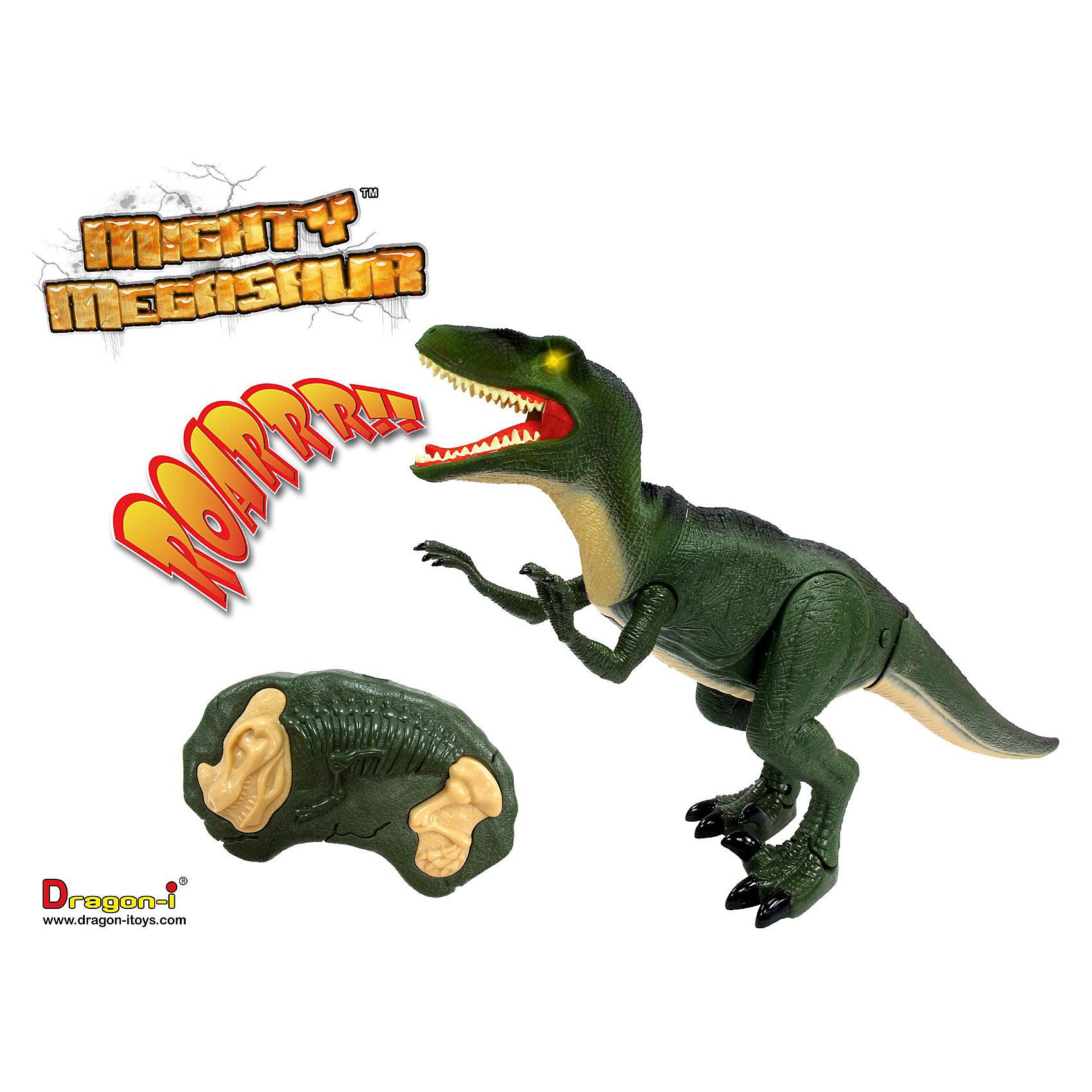 Велоцираптор на инфракрасном управлении, DragonВелоцираптор на инфракрасном управлении, Dragon удивительно реалистичная интерактивная игрушка станет настоящим подарком для Вашего ребенка! Велоцираптор — реально существовавший около 80 млн. лет назад род динозавров, обладавший огромными когтями. С помощью этой подвижной игрушки ребенок сможет познакомиться с удивительным периодом развития планеты — меловым, когда на Земле царствовали динозавры. У этой игрушки, изготовленной из высококачественного нетоксичного пластика и резины, загораются глаза, двигаются челюсти и лапы, а самое главное — она умеет имитировать звуки, которые издавали эти уникальные животные. Всё это можно проделать с помощью пульта, радиус действия которого достигает трех метров.<br>Эра Динозавров не прошла! Теперь самый страшный представитель Динозавров может оказаться у тебя в подчинении, тебе всего лишь нужно взять в руки пульт управления!<br><br>Дополнительная информация: <br><br>- Пульт управления работает от батареек (в комплекте нет);<br>- У Велоцираптора светятся глаза;<br>- Игрушка может издавать реалистичные звуки;<br>- Челюсти и лапы двигаются;<br>- В комплект входят три батарейки для динозавра типа АА. Батарейки для пульта в комплект не включены;<br>- Высота игрушки составляет 20 см<br><br>Велоцираптора на инфракрасном управлении, Dragon можно купить в нашем интернет-магазине.<br><br>Ширина мм: 608<br>Глубина мм: 114<br>Высота мм: 305<br>Вес г: 1004<br>Возраст от месяцев: 60<br>Возраст до месяцев: 120<br>Пол: Мужской<br>Возраст: Детский<br>SKU: 3607977
