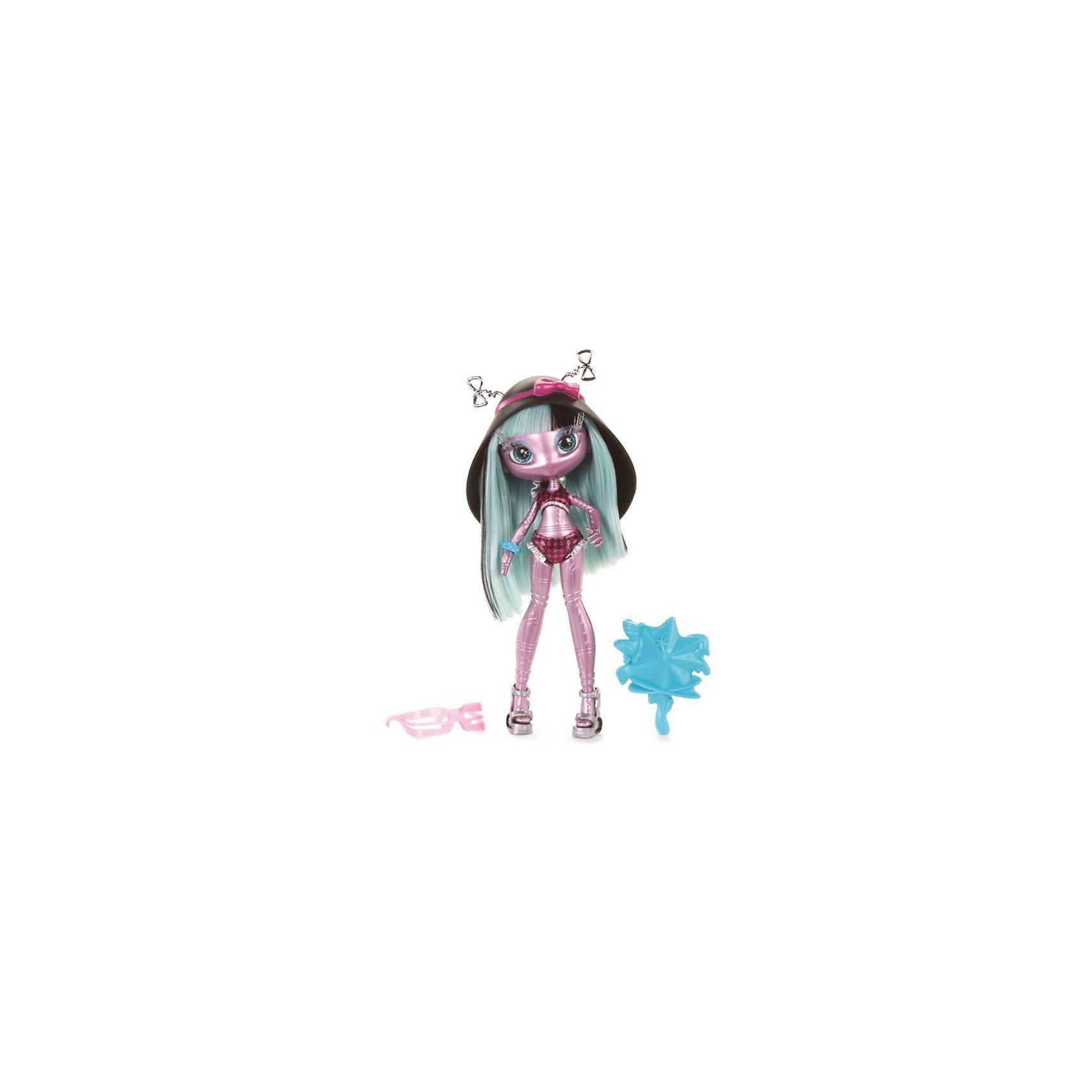 Кукла Mae Tallick: Пляжная вечеринка, Novi StarsНеобычная куколка-инопланетянка Mae Tallick от Novi Stars (Нови Старз) станет замечательным и оригинальным подарком для Вашей девочки. У космической красавицы длинные роскошные голубые волосы с черными прядями, которые можно расчесывать и укладывать в разные прически. Куколка-пришелец собралась посетить пляжную вечеринку, поэтому оделась в клетчатый купальный костюм и большую черную шляпу с пружинками-антеннами. <br>В комплект также входят звездные очки и астрономическая шляпа.<br><br>Дополнительная информация:<br><br>- В комплекте: кукла, космический пляжный костюм, звездные очки, астрономическая шляпа.<br>- Материал: пластик, текстиль. <br>- Высота куклы: 17 см.<br>- Размер упаковки: 22 х 28 х 7 см.<br>- Вес: 0,3 кг.<br><br>Куклу Mae Tallick: Пляжная вечеринка Novi Stars (Нови Старз) можно купить в нашем интернет-магазине.<br><br>Ширина мм: 125<br>Глубина мм: 70<br>Высота мм: 280<br>Вес г: 318<br>Возраст от месяцев: 72<br>Возраст до месяцев: 120<br>Пол: Женский<br>Возраст: Детский<br>SKU: 3609361
