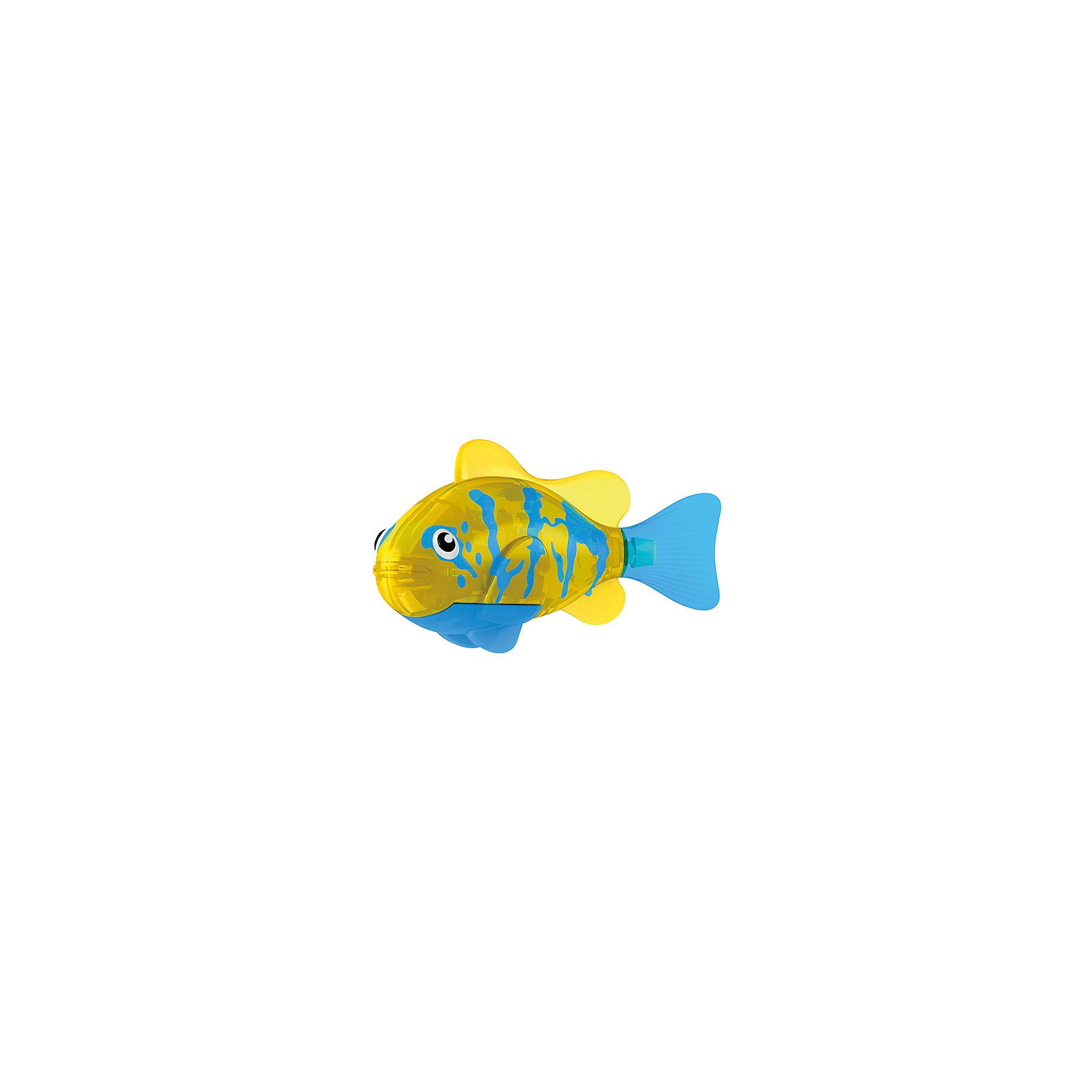 РобоРыбка Белогрудый хирург, RoboFishТропическая РобоРыбка Белогрудый хирург, ZURU (Зуру) – это высокотехнологичная инновационная игрушка, имитирующая повадки рыбы в воде.<br>Тропическая РобоРыбка (Robofish) Белогрудый хирург напоминает свою родственницу из теплых морей. Для РобоРыбки нужна только ёмкость с водой, и никакого ухода! Автоматический датчик, активирует рыбку в воде. Мягкий силиконовый хвост и электромагнитный мотор позволит ей двигаться в 5 различных направлениях: влево, вправо, вперед, вверх или вниз. Ультразвуковая герметизация на 100% защитит внутренности от проникновения воды. РобоРыбка повторяет повадки настоящих рыб: опускается на дно и всплывает на поверхность, сбивается в стаи с другими роборыбками, трется о стенки аквариума, меняет скорость движения, оплывает преграды. Внутри рыбки в крышке под батарейками находится специальный грузик, регулирующий глубину ее погружения. Для того, чтобы рыбка перестала двигаться нужно достать её из воды и насухо вытереть. Хранить РобоРыбку можно на специальной подставке, которая есть в комплекте. Игрушка выполнена из материалов абсолютно безопасных для здоровья.<br><br>Дополнительная информация:<br><br>- Возраст: для детей от 3 лет<br>- В комплекте: 1 рыбка, подставка, 4 батарейки (две установлены в игрушку и 2 запасные)<br>- Батарейки: тип RL44(A76)<br>- Размер рыбки: 7,5 x 2,0 x 3,5 см.<br>- Материал: пластик с элементами металла и резины<br>- Вес в упаковке: 72 г.<br>- Размер упаковки: 20 x 6,5 x 5 см..<br><br>Тропическая РобоРыбка (Робофиш) Белогрудый хирург, ZURU (Зуру) - заведите себе аквариум, обитатели которого порадуют и развлекут Вас своими забавными повадками и при этом совсем не потребуют никакого ухода!<br><br>Тропическую РобоРыбку Белогрудый хирург, ZURU (Зуру) можно купить в нашем интернет-магазине.<br><br>Ширина мм: 435<br>Глубина мм: 240<br>Высота мм: 405<br>Вес г: 216<br>Возраст от месяцев: 48<br>Возраст до месяцев: 96<br>Пол: Мужской<br>Возраст: Детский<br>SKU: 3609990