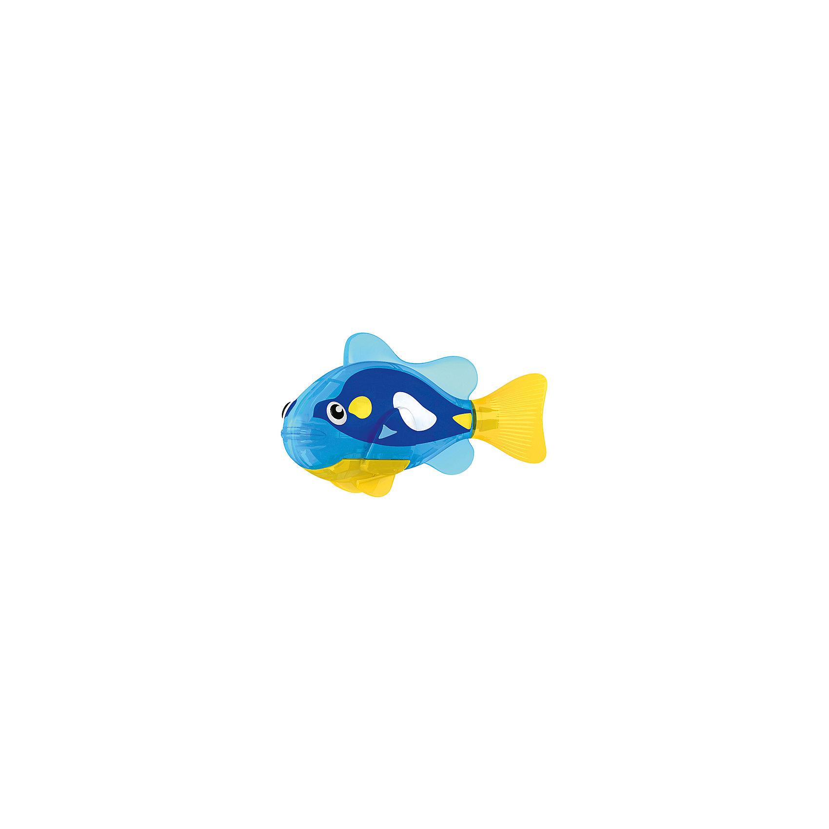 РобоРыбка  Ангел, RoboFishРоборыбки<br>Тропическая РобоРыбка Ангел, ZURU (Зуру) – это высокотехнологичная инновационная игрушка, имитирующая движения и повадки рыбы в воде.<br>Тропическая РобоРыбка (Robofish) Ангел выглядит очень красиво и напоминает свою родственницу из теплых морей. Для РобоРыбки нужна только ёмкость с водой, и никакого ухода! Автоматический датчик, активирует рыбку в воде. Мягкий силиконовый хвост и электромагнитный мотор позволит ей двигаться в 5 различных направлениях: влево, вправо, вперед, вверх или вниз. Ультразвуковая герметизация на 100% защитит внутренности от проникновения воды. РобоРыбка повторяет повадки настоящих рыб: опускается на дно и всплывает на поверхность, сбивается в стаи с другими роборыбками, трется о стенки аквариума, меняет скорость движения, оплывает преграды. Внутри рыбки в крышке под батарейками находится специальный грузик, регулирующий глубину ее погружения. Для того, чтобы рыбка перестала двигаться нужно достать её из воды и насухо вытереть. Хранить РобоРыбку можно на специальной подставке, которая есть в комплекте. Игрушка выполнена из материалов абсолютно безопасных для здоровья.<br><br>Дополнительная информация:<br><br>- Возраст: для детей от 3 лет<br>- В комплекте: 1 рыбка, подставка, 4 батарейки (две установлены в игрушку и 2 запасные)<br>- Батарейки: тип RL44(A76)<br>- Размер рыбки: 7,5 x 2,0 x 3,5 см.<br>- Материал: пластик с элементами металла и резины<br>- Вес в упаковке: 72 г.<br>- Размер упаковки: 20 x 6,5 x 5 см.<br><br>Тропическая РобоРыбка (Робофиш) Ангел, ZURU (Зуру) - заведите себе аквариум, обитатели которого порадуют и развлекут Вас своими забавными повадками и при этом совсем не потребуют никакого ухода!<br><br>Тропическую РобоРыбку Ангел, ZURU (Зуру) можно купить в нашем интернет-магазине.<br><br>Ширина мм: 435<br>Глубина мм: 240<br>Высота мм: 405<br>Вес г: 216<br>Возраст от месяцев: 48<br>Возраст до месяцев: 96<br>Пол: Мужской<br>Возраст: Детский<br>SKU: 3609992