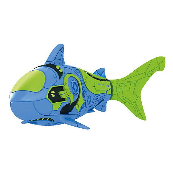 РобоРыбка Акула синяя, RoboFishРоборыбки<br>Тропическая РобоРыбка Акула, ZURU (Зуру) – это высокотехнологичная инновационная игрушка, имитирующая движения и повадки рыбы в воде.<br>Тропическая РобоРыбка (Robofish) Акула выглядит как настоящая и двигается словно живая! Для РобоРыбки нужна только ёмкость с водой, и никакого ухода! Автоматический датчик, активирует рыбку в воде. Мягкий силиконовый хвост и электромагнитный мотор позволит ей двигаться в 5 различных направлениях: влево, вправо, вперед, вверх или вниз. Ультразвуковая герметизация на 100% защитит внутренности от проникновения воды. РобоРыбка повторяет повадки настоящих рыб: опускается на дно и всплывает на поверхность, сбивается в стаи с другими роборыбками, трется о стенки аквариума, меняет скорость движения, оплывает преграды. Внутри рыбки в крышке под батарейками находится специальный грузик, регулирующий глубину ее погружения. Для того, чтобы рыбка перестала двигаться нужно достать её из воды и насухо вытереть. Хранить РобоРыбку можно на специальной подставке, которая есть в комплекте. Игрушка выполнена из материалов абсолютно безопасных для здоровья.<br><br>Дополнительная информация:<br><br>- Возраст: для детей от 3 лет<br>- В комплекте: 1 рыбка, подставка, 4 батарейки (две установлены в игрушку и 2 запасные)<br>- Батарейки: тип RL44(A76)<br>- Размер рыбки: 7,5 x 2,0 x 3,5 см.<br>- Материал: пластик с элементами металла и резины<br>- Вес в упаковке: 72 г.<br>- Размер упаковки: 20 x 6,5 x 5 см.<br><br>Тропическая РобоРыбка (Робофиш) Акула, ZURU (Зуру) - заведите себе аквариум, обитатели которого порадуют и развлекут Вас своими забавными повадками и при этом совсем не потребуют никакого ухода!<br><br>Тропическую РобоРыбку Акула, ZURU (Зуру) можно купить в нашем интернет-магазине.<br><br>Ширина мм: 435<br>Глубина мм: 240<br>Высота мм: 405<br>Вес г: 218<br>Возраст от месяцев: 48<br>Возраст до месяцев: 96<br>Пол: Мужской<br>Возраст: Детский<br>SKU: 3609994