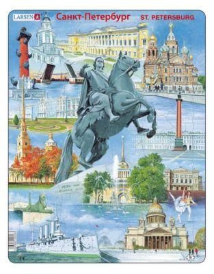 Пазл Санкт-Петербург , Larsen, 60 деталей