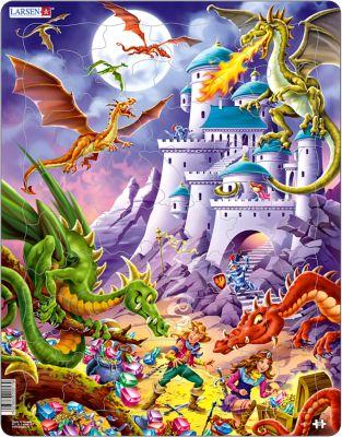 Пазл Драконы , Larsen, 50 Деталей