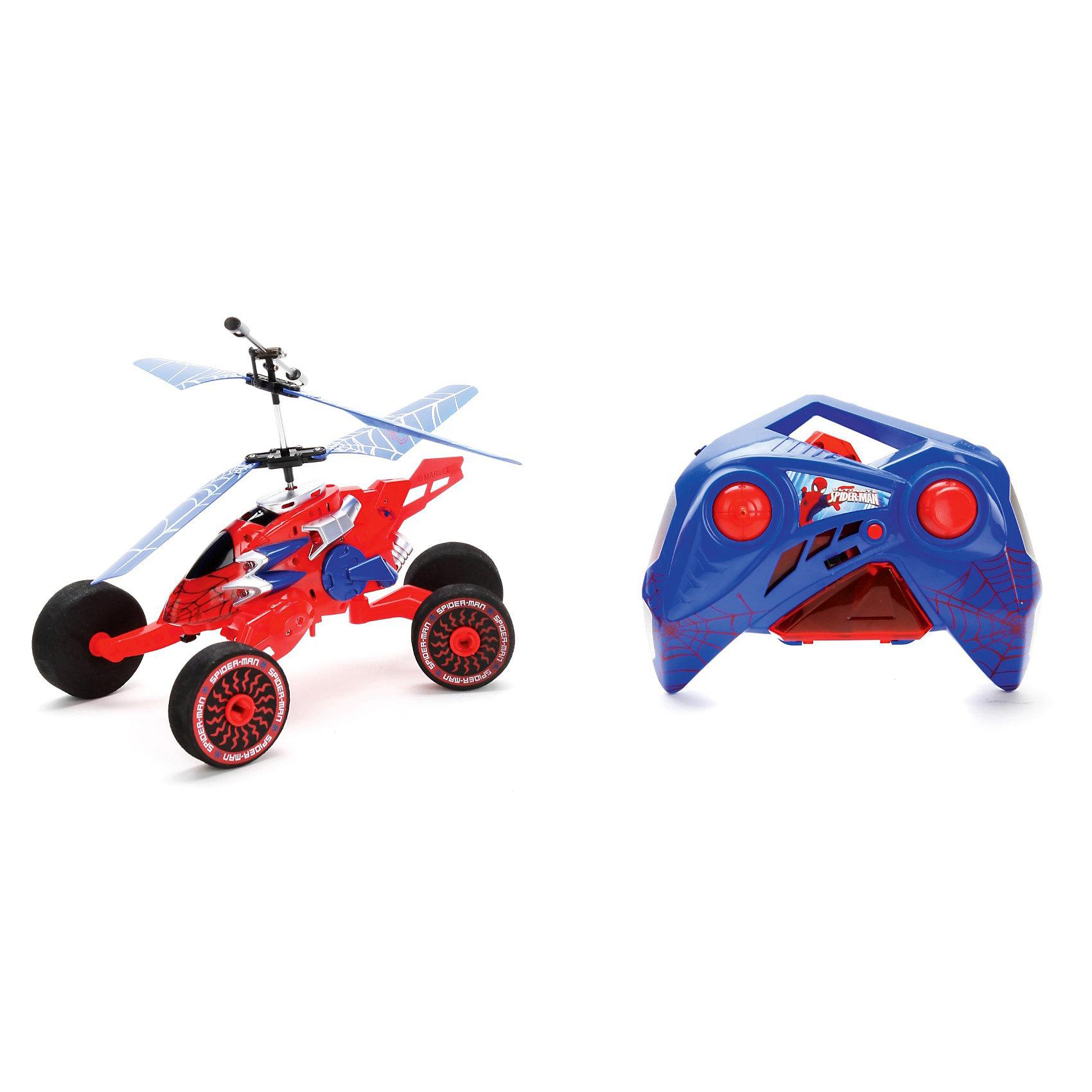 Радиоуправляемый вертолет со светом, Человек-ПаукИгрушки<br>Радиоуправляемый вертолет Человек-паук, со светом, ТЕХНОПАРК - замечательная игрушка, которая надолго увлечет Вашего малыша.<br><br>При помощи пульта управления игрушечный вертолетик ездит, может летать вверх-вниз, кружить, выписывать в воздухе прямоугольники, восьмерки, кружиться и даже неподвижно зависнуть в воздухе! <br>Воздушная машина имеет стабилизатор и регулятор направления. Во время работы у вертолета работают интерактивные пилотные огни. <br><br>Вертолет управляется с инфракрасного двухканального пульта. Дальность полета вертолета до 10 м., время зарядки 40-50 мин. <br>Игрушка работает от встроенного аккумулятора, который можно зарядить либо от пульта управления, либо от специального USB-зарядного устройства.<br><br>Дополнительная информация:<br><br>- На и/к управлении.<br>- Ездит, летает, со светом.<br>- Размеры упаковки: 28 х 15 х 29 см.<br>-Вес: 790 гр.<br><br>Радиоуправляемый вертолет Человек-паук (Spider-Man), со светом, ТЕХНОПАРК можно купить в нашем интернет-магазине.<br><br>Ширина мм: 280<br>Глубина мм: 150<br>Высота мм: 290<br>Вес г: 790<br>Возраст от месяцев: 36<br>Возраст до месяцев: 120<br>Пол: Мужской<br>Возраст: Детский<br>SKU: 3611777