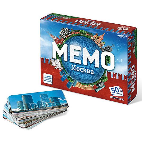 Игра Мемо. МоскваИгры мемо<br>Игра Мемо Москва – это полезная познавательная игра с простыми правилами обязательно понравится вашему ребенку.<br>Мемо - это игра для тренировки зрительной памяти. В состав игры входит 50 парных карточек, то есть всего 25 пар карточек. Перед началом игры карточки перемешиваются и раскладываются на столе картинками вниз. Играют несколько игроков. В свой ход игрок переворачивает 2 любые карточки и показывает их остальным игрокам. Если карточки одинаковые, игрок забирает их себе и делает еще один ход. Если разные - переворачивает их и кладет обратно, а ход переходит к следующему игроку. Выигрывает игрок, собравший к концу игры наибольшее количество карточек. Игра Мемо Москва будет интересна еще и с познавательной точки зрения. На карточках изображены известные места и памятники на территории Москвы. В состав входит буклет с описанием всех мест, изображённых на карточках. Ваши дети не только потренируют память, но и узнают много нового. Можно разнообразить игру, например, ввести правило, называть изображения на карточках, которые удалось открыть. Или находить на карте Москвы места их расположения. Игра Мемо помогает развить память, она очень полезна для дошкольников и младших школьников. В такую игру можно играть вдвоем с ребенком, а можно использовать ее на детских праздниках, когда требуется немного успокоить детей. Игра будет интересна и взрослым в качестве простой, недолгой, увлекательной игры. Карточки занимают достаточно мало места, их можно взять с собой в поездку.<br><br>Дополнительная информация:<br><br>- Возраст: для детей от 5 лет<br>- Вес: 138 гр.<br>- Размер упаковки: 12,5 x 17 x 4 см<br>- Размер карточек: 6,3 х 9,3 см.<br>- В наборе: 25 пар картонных карточек с изображением достопримечательностей, буклет с описанием достопримечательностей<br><br>Игру Мемо Москва можно купить в нашем интернет-магазине.<br>Ширина мм: 170; Глубина мм: 40; Высота мм: 125; Вес г: 235; Возраст от месяцев: 60; Возраст до месяцев: 72; Пол: Унисекс; В