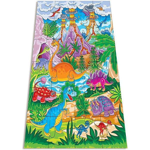Мозаика ДинозаврикиМозаика<br>Мозаика Динозаврики – это яркий, увлекательный и развивающий подарок для вашего ребенка.<br>Крупные и яркие детали мозаики привлекают внимание даже самых маленьких детей. Картинку удобно собирать, сидя на полу: большие фрагменты рассчитаны на малышей и не потеряются. Ребёнок научится складывать сюжетную картинку из нескольких частей и подбирать подходящие по форме недостающие фрагменты рисунка. В результате сборки получается картинка с изображением забавных динозавриков. Игра развивает зрительное восприятие, образное мышление и мелкую моторику рук.<br><br>Дополнительная информация:<br><br>- Возраст: для детей от 3 лет<br>- В наборе: 24 крупных пазловых элемента, внутри каждого пазла вырублена фигурка<br>- Вес: 568 гр.<br>- Размер в собранном виде: 70 х 50 см.<br>- Размер упаковки: 26 x 27,4 x 4,8 см<br>- Материалы: картон, бумага.<br><br>Мозаику Динозаврики можно купить в нашем интернет-магазине.<br><br>Ширина мм: 265<br>Глубина мм: 50<br>Высота мм: 275<br>Вес г: 235<br>Возраст от месяцев: 36<br>Возраст до месяцев: 48<br>Пол: Унисекс<br>Возраст: Детский<br>SKU: 3612528