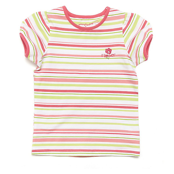 Футболка для девочки PlayTodayФутболки, поло и топы<br>* яркая футболка в полоску из эластичного трикотажа<br>* горловина и края рукавов обработаны трикотажной бейкой яркого цвета<br>* декорирована принтом<br>Состав:<br>95% хлопок, 5% эластан<br><br>Футболку для девочки PlayToday (Плэйтудей) можно купить в нашем магазине.<br>Ширина мм: 199; Глубина мм: 10; Высота мм: 161; Вес г: 151; Цвет: белый; Возраст от месяцев: 84; Возраст до месяцев: 96; Пол: Женский; Возраст: Детский; Размер: 128,98,122,116,104,110; SKU: 3614596;