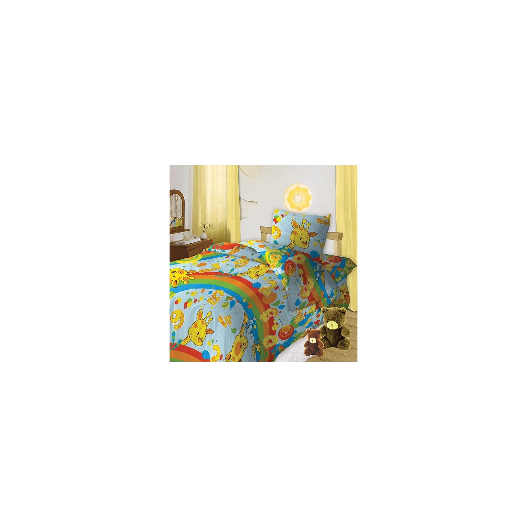 Комплект Веселый счет 1,5-спальный, Кошки-МышкиДомашний текстиль<br>Полутораспальный комплект постельного белья Веселый счет, Кошки-Мышки – приятное к телу детское постельное белье для спальни Вашего ребенка.<br><br>Детское постельное белье «Веселый счет» изготовлено из высококачественной бязи. Оно обладает высоким качеством, не вызывает аллергию и не раздражает кожу. Комплект поможет окунуться в мир сказок и будет наполнять детскую спальню добрыми и позитивными эмоциями. Рисунок на белье – это веселые жирафы, радуга и цифры, разбросанные повсюду, поэтому Ваш малыш сможет в игровой форме познакомиться со счетом.<br><br>Дополнительная информация:<br>-Материалы: бязь (100% хлопок)<br>-Размеры: <br>пододеяльник 143х215 см, <br>простыня 150х215 см, <br>наволочка 70х70 см<br>-Комплектация: пододеяльник, простыня, наволочка (1 шт.)<br><br>Яркий постельный набор позволит вашему ребенку почувствовать себя волшебно в своем маленьком уютном мире. Его ждут самые яркие сказочные сны!<br><br>Комплект постельного белья Веселый счет 1,5 спальный, Кошки-Мышки можно купить в нашем магазине.<br><br>Ширина мм: 360<br>Глубина мм: 280<br>Высота мм: 60<br>Вес г: 1400<br>Возраст от месяцев: 36<br>Возраст до месяцев: 144<br>Пол: Унисекс<br>Возраст: Детский<br>SKU: 3615500
