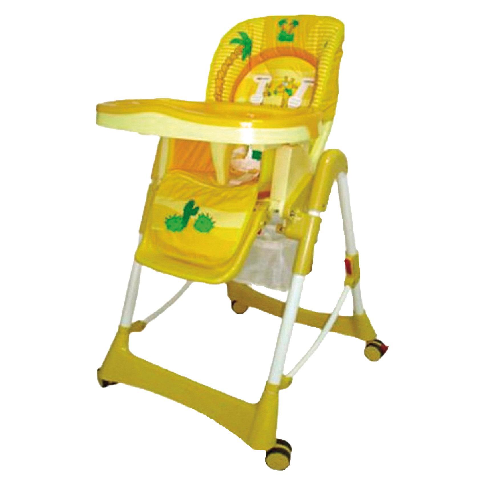 Стульчик для кормления Piero De Lux, Jetem, AfricaКомфортный стул для кормления Piero Deluxe Africa от Jetem (Жетем) поможет сделать кормление малыша приятным и безопасным. Стульчик выполнен в ярком привлекательном дизайне с изображениями забавного жирафа и пальм. <br><br>Рама с поперечной перекладиной обеспечивает максимальную устойчивость. Мягкое комфортное сиденье имеет спинку, у которой регулируются высота (6 уровней) и угол наклона (3 положения) в зависимости от потребностей ребенка. Стульчик оснащен 5-точечными ремнями безопасности и ограничителем под дном столешницы, которые крепко удержат<br>малыша и не позволят соскользнуть вперед. Регулируемая подставка для ножек обеспечит ребенку надежную опору. У стульчика высокие бортики, столик также регулируется по высоте. Съемная столешница имеет 3 положения глубины, есть отверстие для стакана.<br><br>Имеется дополнительная съемная прозрачная столешница, сетка для игрушек. Прорезиненные колеса предотвращают царапины на напольном покрытии, задние колеса фиксируются. Клеенчатая обивка легко моется. Стульчик легко и компактно складывается и не занимает много места. Стульчик рекомендуется использовать от 4 -9 мес. до 3 лет, максимальный вес - 18 кг.<br><br>Дополнительная информация:<br><br>- Цвет: africa (желтый).<br>- Материал: пластик, ткань. <br>- Размер в разложенном состоянии: 125 х 60 х 65 см.<br>- Высота спинки стульчика: 58 см.<br>- Ширина сидения: 29 см.<br>- Глубина сидения: 28 см.<br>- Размер упаковки: 55 х 29 х 7 см. <br>- Вес с упаковкой: 11 кг. <br><br>Стул для кормления Piero Deluxe Africa, Jetem (Жетем) можно купить в нашем интернет-магазине.<br><br>Ширина мм: 700<br>Глубина мм: 280<br>Высота мм: 550<br>Вес г: 10500<br>Возраст от месяцев: 6<br>Возраст до месяцев: 36<br>Пол: Унисекс<br>Возраст: Детский<br>SKU: 3618045