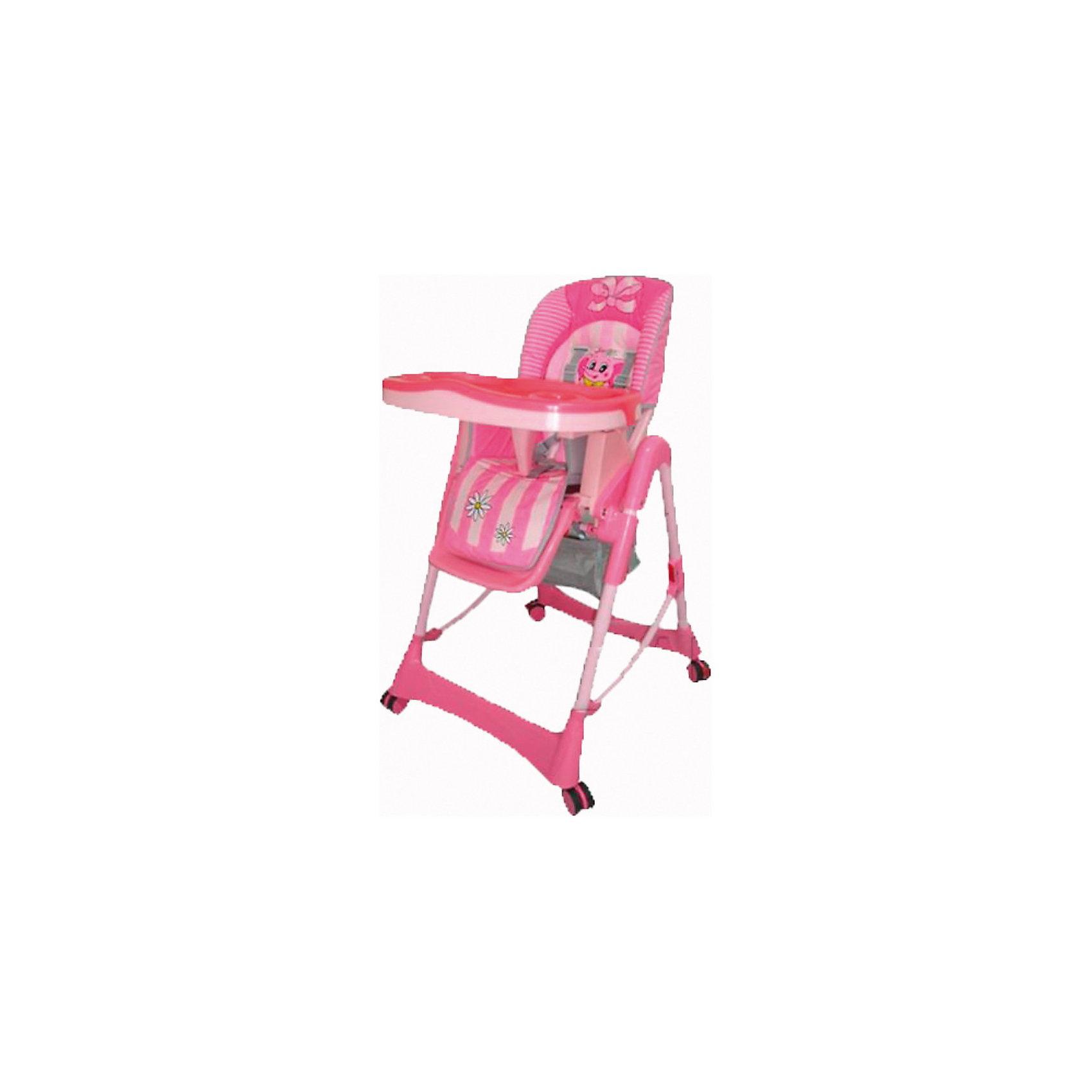 Стульчик для кормления Piero De Lux, Jetem, розовыйСтульчики для кормления<br>Комфортный стул для кормления Piero Deluxe Pink от Jetem (Жетем) поможет сделать кормление малыша приятным и безопасным. Стульчик выполнен в ярком привлекательном дизайне с изображением забавного слоненка. <br><br>Рама с поперечной перекладиной обеспечивает максимальную устойчивость. Мягкое комфортное сиденье имеет спинку, у которой регулируются высота (6 уровней) и угол наклона (3 положения) в зависимости от потребностей ребенка. Стульчик оснащен 5-точечными ремнями безопасности и ограничителем под дном столешницы, которые крепко удержат<br>малыша и не позволят соскользнуть вперед. Регулируемая подставка для ножек обеспечит ребенку надежную опору. У стульчика высокие бортики, столик также регулируется по высоте. Съемная столешница имеет 3 положения глубины, есть отверстие для стакана.<br><br>Имеется дополнительная съемная прозрачная столешница, сетка для игрушек. Прорезиненные колеса предотвращают царапины на напольном покрытии, задние колеса фиксируются. Клеенчатая обивка легко моется. Стульчик легко и компактно складывается и не занимает много места. Стульчик рекомендуется использовать от 4 -9 мес. до 3 лет,<br>максимальный вес - 18 кг.<br><br>Дополнительная информация:<br><br>- Цвет: розовый.<br>- Материал: пластик, ткань. <br>- Размер в разложенном состоянии: 125 х 60 х 65 см.<br>- Высота спинки стульчика: 58 см.<br>- Ширина сидения: 29 см.<br>- Глубина сидения: 28 см.<br>- Размер упаковки: 55 х 29 х 7 см. <br>- Вес с упаковкой: 11 кг. <br><br>Стул для кормления Piero Deluxe Pink, Jetem (Жетем) можно купить в нашем интернет-магазине.<br><br>Ширина мм: 700<br>Глубина мм: 280<br>Высота мм: 550<br>Вес г: 10500<br>Возраст от месяцев: 6<br>Возраст до месяцев: 36<br>Пол: Женский<br>Возраст: Детский<br>SKU: 3618048