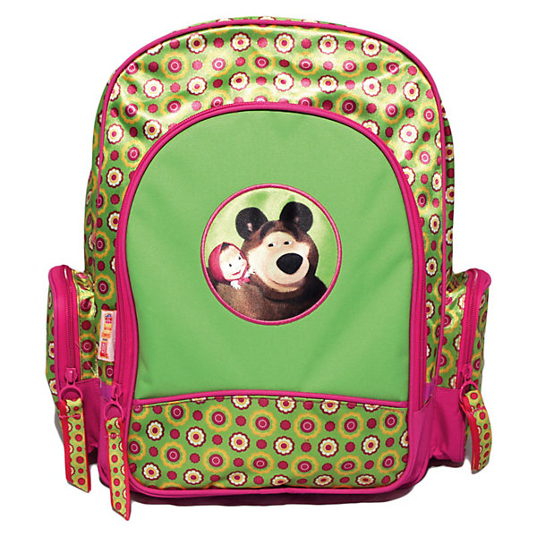 Рюкзак с EVA-спинкой Маленькая Модница, Маша и МедведьМаша и Медведь Товары для фанатов<br>Красивый и удобный рюкзачок «Маленькая Модница», Маша и медведь - практичный и красивый аксессуар, который порадует маленькую модницу. Усиленная EVA-спинка позволяет уменьшить нагрузку на неокрепший позвоночник ребенка. Широкие ремни с мягкой прокладкой равномерно распределяют нагрузку на плечевой пояс и оберегают от натирания. Лямки регулируются по возрасту ребенка. Гибкая пластиковая ручка очень удобна для ношения рюкзака в руке.<br><br>В рюкзаке одно просторное основное отделение на молнии, куда без труда поместятся все необходимые в школе вещи, включая предметы форматом А4. Внутри него есть две перегородки и сетчатый карман, вмещающий предметы форматом А5. В лицевой карман на молнии можно положить тетради. Два боковых кармана на молнии подходят для маленьких предметов. <br><br>Светоотражающие элементы повышают безопасность ребенка на дороге в темное время суток. Изделие изготовлено из износостойкой ткани, что позволит ему верно служить долгое время. Рюкзак украшен яркими узорами и изображениями любимых персонажей - Маши и медведя из популярного отечественного мультсериала.<br><br>Дополнительная информация:<br><br>- Материал: полиэстер.<br>- Размер: 40 х 30 х 15 см.<br>- Вес: 650 гр.<br><br>Рюкзак с EVA-спинкой Маленькая Модница, Маша и Медведь от Rosman можно купить в нашем интернет-магазине.<br><br>Ширина мм: 60<br>Глубина мм: 280<br>Высота мм: 205<br>Вес г: 650<br>Возраст от месяцев: 72<br>Возраст до месяцев: 108<br>Пол: Женский<br>Возраст: Детский<br>SKU: 3618072