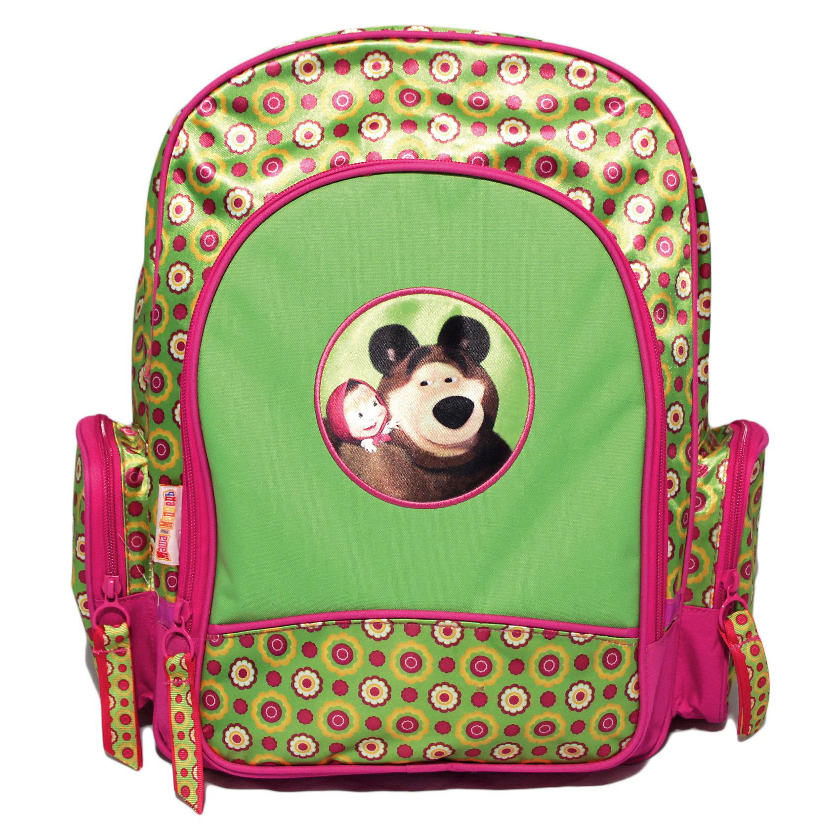 Рюкзак с EVA-спинкой Маленькая Модница, Маша и Медведь