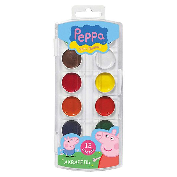 Акварель, 12 цветов, Свинка ПеппаСвинка Пеппа<br>Рисование - один из любимых видов детского творчества, которое развивает у ребенка воображение, творческое мышление, зрительную память и цветовое восприятие. Хорошие качественные краски в яркой упаковке с любимыми персонажами сделают творческий процесс еще интереснее и привлекательнее. Акварельные краски Свинка Пеппа имеют яркие насыщенные цвета, легко размываются и разносятся, быстро сохнут. Акварель изготовлена на основе органических пигментов и натурального связующего с добавлением патоки, меда. В наборе 12 цветов в удобной пластиковой упаковке с круглыми контейнерами, украшенной изображением милой забавной свинки из популярного мультсериала Свинка Пеппа (Peppa Pig).<br><br>Дополнительная информация:<br><br>- Материал: акварельные краски, пластмасса.<br>- Размер упаковки: 19.5 х 8 х 1,2 см.<br>- Вес: 80 гр.<br><br>Акварель, 12 цветов, Свинка Пеппа от Росмэн можно купить в нашем интернет-магазине.<br><br>Ширина мм: 200<br>Глубина мм: 80<br>Высота мм: 12<br>Вес г: 80<br>Возраст от месяцев: 36<br>Возраст до месяцев: 144<br>Пол: Женский<br>Возраст: Детский<br>SKU: 3618111