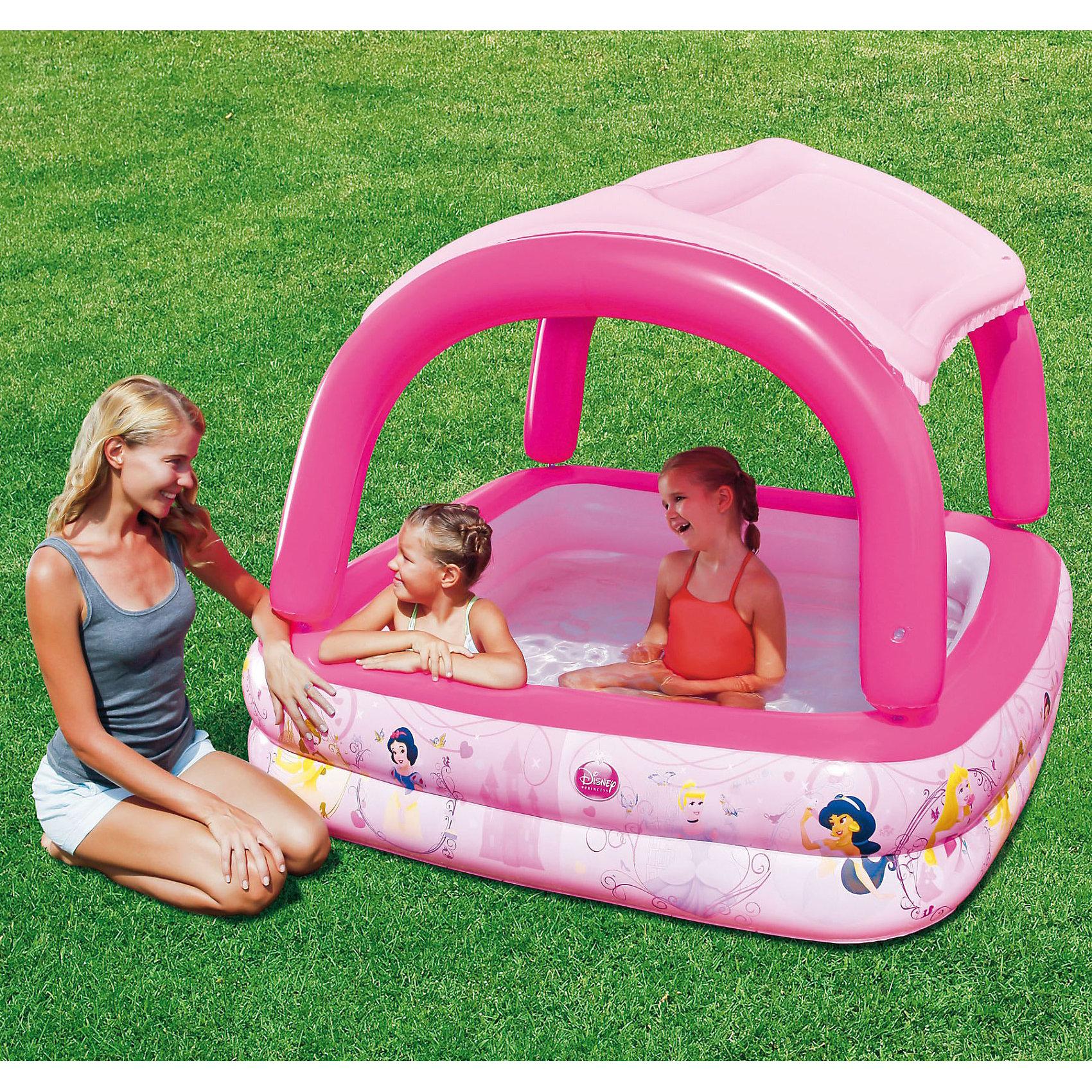 Bestway Надувной бассейн с тентом от солнца, Принцессы Дисней bestway надувной пляжный матрас 119х61см принцессы дисней
