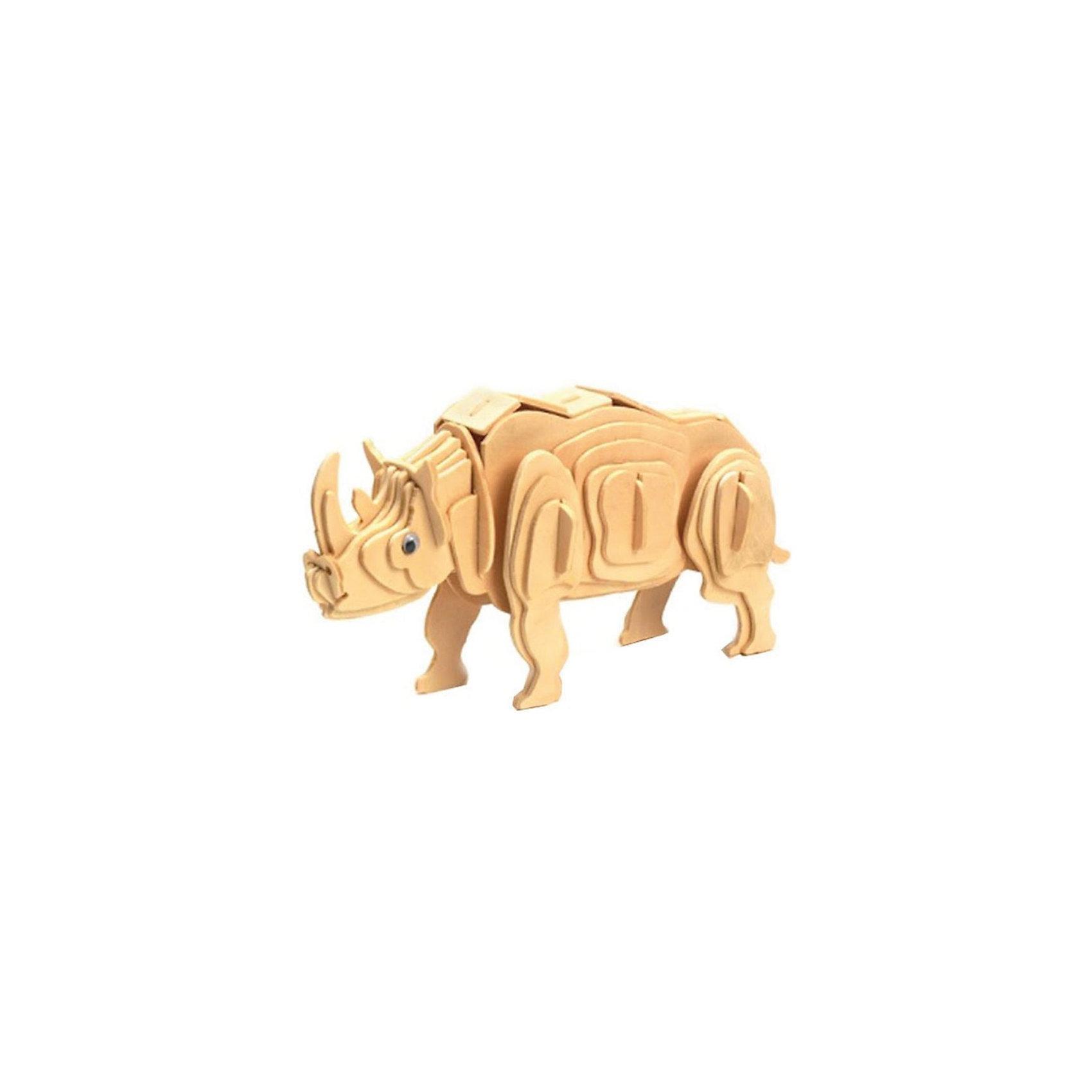 Деревянный пазл 3D Носорог, Educational LineУникальный деревянный 3D пазл Носорог от Educational Line будет интересен и детям и их родителям. С помощью входящих в набор деревянных деталей Вы сможете своими руками собрать необычный  сувенир - объемную фигуру носорога. Сборка объемных 3D пазлов не требует инструментов, детали просто выдавливаются из пластины и закрепляются в пазах в порядке и очередности нумерации, согласно прилагаемой схемы (сначала 1-1, затем 2-2, 3-3 и т.д.). В комплект входит подробная инструкция по сборке. <br><br>Для прочности детали пазла можно предварительно проклеить клеем, а готовую модель раскрасить и покрыть лаком (в комплект не входит). <br><br>Дополнительная информация:<br><br>- Материал: дерево.<br>- Количество деталей: 25.  <br>- Размер упаковки: 19 x 23 x 0,6 см.<br>- Вес: 142 гр.<br><br>Сборка пазла развивает у ребенка логическое мышление, воображение, усидчивость и аккуратность, тренирует мелкую моторику рук.<br><br>Деревянный пазл 3D Носорог Educational Line можно купить в нашем интернет-магазине.<br><br>Ширина мм: 2<br>Глубина мм: 18<br>Высота мм: 20<br>Вес г: 300<br>Возраст от месяцев: 60<br>Возраст до месяцев: 1188<br>Пол: Унисекс<br>Возраст: Детский<br>Количество деталей: 38<br>SKU: 3620581