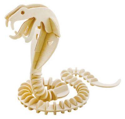 Деревянный пазл 3D Змея , Educational Line