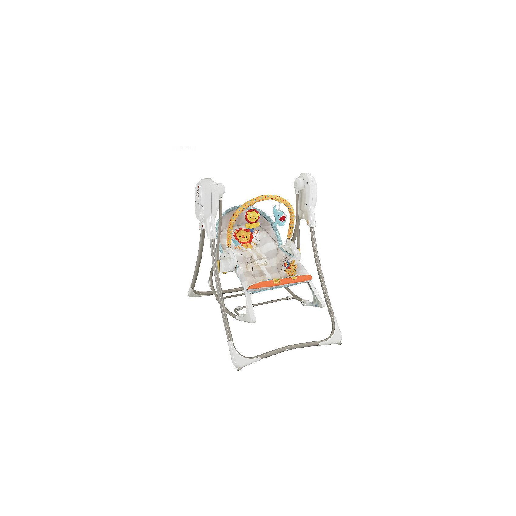 Кресло-качалка 3-в-1 Слоненок и львенок, Fisher-Price