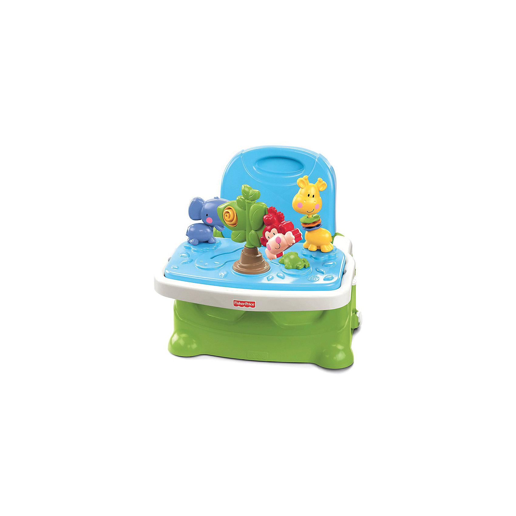 Mattel Стульчик для кормления с подставкой для игр, Fisher-Price
