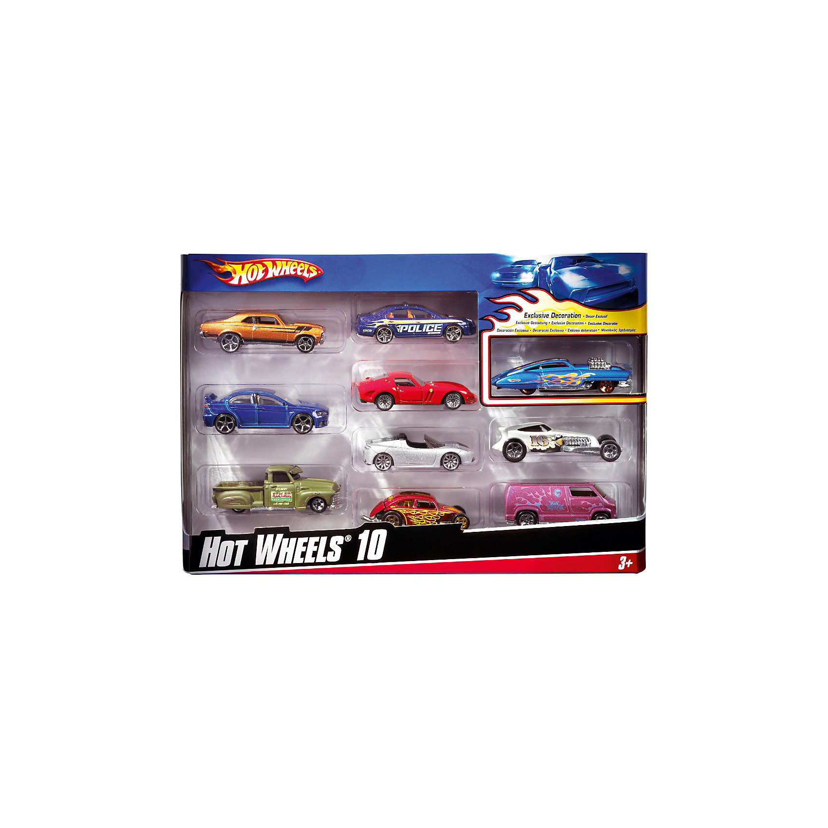 Mattel Набор из 10 машинок, металл, Hot Wheels r b parker s the devil wins