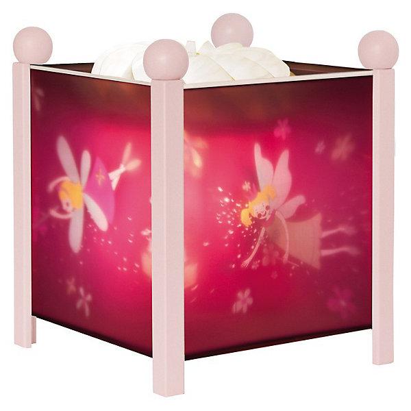 Светильник-ночник Фея (цвет розовый), 12V, TrousselierДетские предметы интерьера<br>Светильник-ночник Фея (цвет розовый), 12V, Trousselier (Трусалье) сделан в виде симпатичной игрушки, которая делает приятным и уютным погружение в сладкий мир сновидений. <br><br>Он светится нежным мягким светом, не раздражающим глазки даже ночью. Внутрь светильника встроен специальный механизм, вращающий цилиндр ночника от тепла лампочки.  Ночник упакован в праздничную коробку, что дает возможность преподнести его в качестве подарка на праздник.<br><br>Дополнительная информация:<br><br>-Размер: 16,5x19 см<br>-Материал: металлический корпус, деревянные ножки и углы, пластиковый, жароустойчивый цилиндр<br><br>Детский ночник из серии «Фея» подойдет любителям сказок, магии и волшебства. Засыпая с подобным ночником, кроха будет смотреть на сменяющиеся волшебные картинки и представлять себя героем сказочной страны.<br><br>Светильник-ночник Фея (цвет розовый), 12V, Trousselier (Трусалье) можно купить в нашем магазине.<br><br>Ширина мм: 161<br>Глубина мм: 161<br>Высота мм: 190<br>Вес г: 912<br>Возраст от месяцев: 36<br>Возраст до месяцев: 144<br>Пол: Женский<br>Возраст: Детский<br>SKU: 3620643