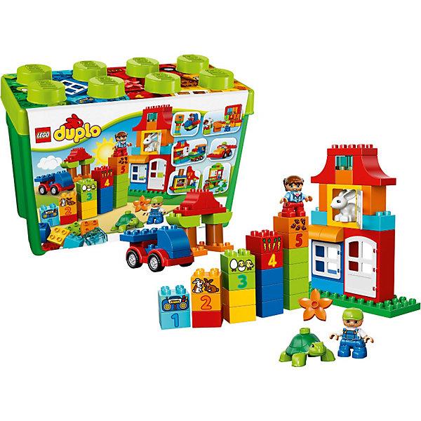 LEGO DUPLO 10580: Набор для весёлой игрыКонструкторы Лего<br>Большой набор LEGO DUPLO (ЛЕГО ДУПЛО) 10580 – это увлекательная и познавательная игра! Благодаря гладким разноцветным элементам, надёжно скрепляющимся между собой, ребёнок сможет освоить азы конструирования и самостоятельно подбирать цвета и формы для будущих моделей. Количество возможных игровых ситуаций ограничивается лишь фантазией юного архитектора, так как из деталей набора можно построить любой объект из реальной жизни, будь-то железнодорожная станция с паровозом или загородная ферма с животными. Во время сборки можно следовать красочным инструкциям, входящим в комплект, или придумывать собственные сюжеты. Также прекрасным обучающим элементом во время игры станут кубики с цифрами и предметами, объединённые одним цветом. <br><br>Серия LEGO DUPLO (ЛЕГО ДУПЛО) создана специально для маленьких ручек и большого воображения! Конструкторы LEGO DUPLO (ЛЕГО ДУПЛО), предназначенные для детей дошкольного возраста, сочетают игру и обучение, а также развивают мелкую моторику, пространственное мышление и творческие способности малышей и дошкольников. Кубики LEGO DUPLO (ЛЕГО ДУПЛО) в 8 раз больше, чем обычные кубики, что позволяет ребенку удобно их держать и быстро строить.<br><br>Дополнительная информация:<br><br>- Конструкторы LEGO DUPLO (ЛЕГО ДУПЛО) помогают развивать мелкую моторику, видеть причинно-следственные связи, получать опыт пространственного и абстрактного мышления;<br>- Количество деталей: 95 шт;<br>- Красочные инструкции в комплекте;<br>- В набор входят 2 минифигурки детей с разнообразными аксессуарами: кубиками, базовой деталью кузова, оконными и дверными элементами;<br>- Весь набор упакован в прочную, легко узнаваемую коробку для хранения в форме кубика LEGO;<br>- Серия: ЛЕГО ДУПЛО;<br>- Материал: пластик;<br>- Размер упаковки: 26,2 х 18 х 37 см;<br>- Вес: 1,774 кг<br><br>Конструктор LEGO DUPLO (ЛЕГО ДУПЛО) 10580: Набор для весёлой игры можно купить в нашем интернет-магазине.<br><br>Ширина мм: 368<