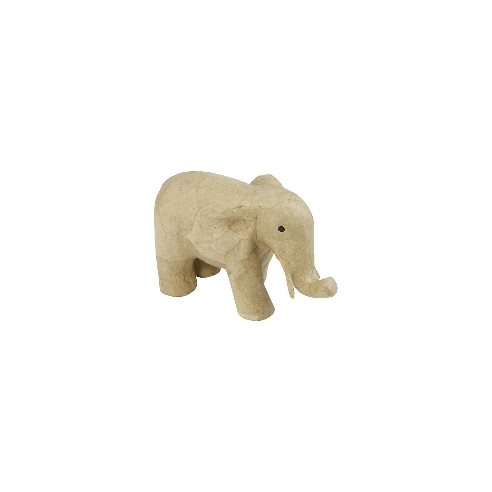 Слон, папье-маше, DECOPATCHЗаготовка из папье-маше для декорирования: Слон. Для декора этого замечательного животного можно использовать акриловые краски, цветную бумагу, так же можно применить технику Декупаж. Декорированный слон украсит самый изысканный интерьер и прекрасно подойдет для эксклюзивного подарка. Для получения более насыщенного и яркого цвета перед началом работы используйте грунт. Заготовки из папье-маше можно смело раскрасить акриловыми красками, обклеить бумагой (техника декопатч, декупаж), покрыть мозаикой, декорировать стразами, лентами, бусинами. Чудесный слоник открывает неограниченные возможности для проявления Ваших декораторских талантов!<br><br>Дополнительная информация:<br><br>- Слониз папье-маше;<br>- Идеальная основа для декорирования;<br>- Можно применять разные техники декорирования;<br>- Размер заготовки: 12 х 21 х 17 см;<br>- Вес: 145 г<br><br>Слона /папье-маше/ 12х21х17 см, можно купить в нашем интернет-магазине.<br><br>Ширина мм: 120<br>Глубина мм: 210<br>Высота мм: 170<br>Вес г: 145<br>Возраст от месяцев: 36<br>Возраст до месяцев: 216<br>Пол: Унисекс<br>Возраст: Детский<br>SKU: 3624880
