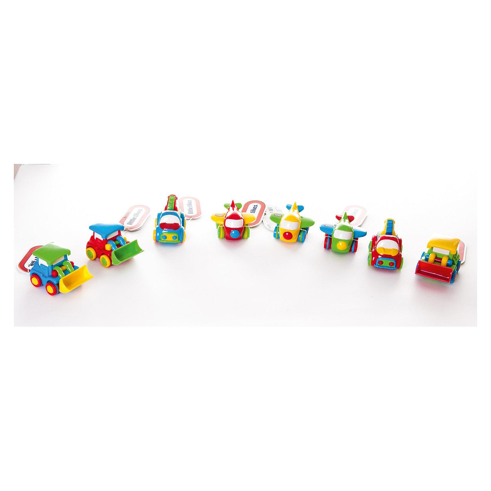 Транспорт, Little Tikes, в ассортиментеТранспорт, Little Tikes (Литл Тайкс) – это симпатичная яркая игрушка, которая станет приятным сюрпризом для Вашего малыша. <br><br>Игрушка представлена в ассортименте и имеется 6 различных видов транспортных средств: трактор, самолет, поезд, гоночная машина, цементовоз или  эвакуатор. Но независимо от вида - игрушка отличается ярким дизайном, превосходным исполнением и безопасностью. Подтолкните их, и  они поедут практически бесшумно благодаря технологии «Push and Go». Машинки удобно держать в руке. Для большей безопасности у машинок скругленные формы.<br><br>Дополнительная информация:<br><br>- Возраст: для детей от 1 года<br>- Размер: 6,5 х 8,5 х 6 см.<br>- Вес: 118 гр.<br>ВНИМАНИЕ! Данный товар представлен в ассортименте и имеется 6 вариантов исполнения игрушки. К сожалению, предварительный выбор определенного вида игрушки невозможен. При заказе нескольких единиц данного товара возможно получение одинаковых.<br><br>Транспорт, Little Tikes (Литл Тайкс) можно купить в нашем интернет-магазине.<br><br>Ширина мм: 65<br>Глубина мм: 85<br>Высота мм: 60<br>Вес г: 118<br>Возраст от месяцев: 12<br>Возраст до месяцев: 36<br>Пол: Мужской<br>Возраст: Детский<br>SKU: 3624964