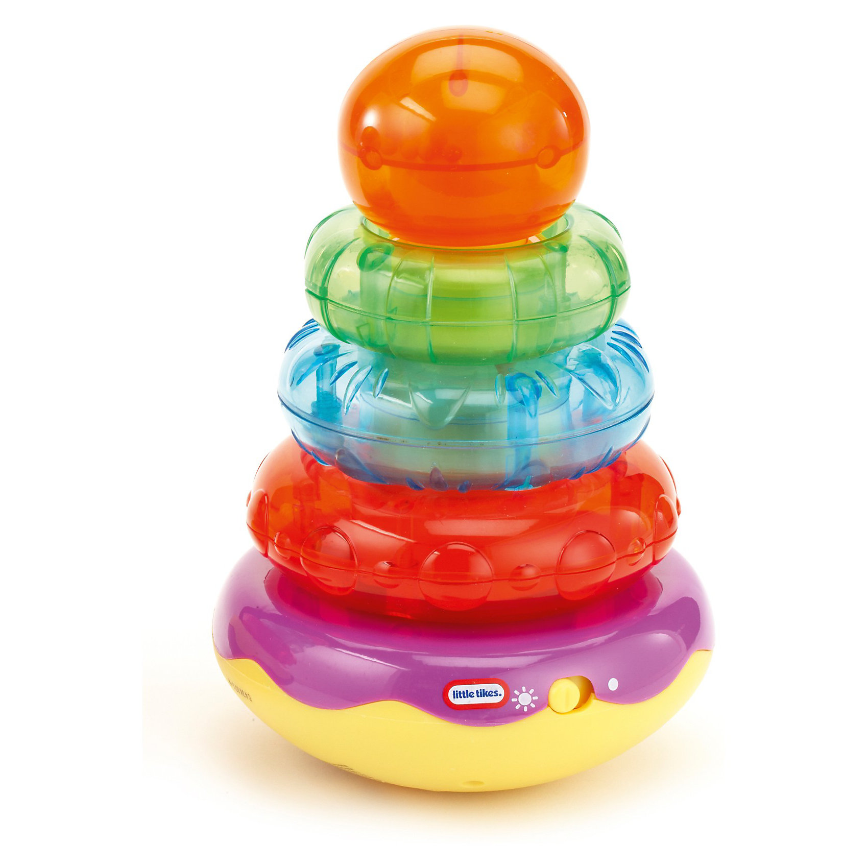 Пирамидка, со звуком,  Little TikesПирамидка, со звуком,  Little Tikes (Литл Тайкс) – это отличный подарок вашему ребенку.<br>Наблюдайте, как Ваш ребенок, складывая кольца, веселится из-за раздающих смешных звуков. Игра с пирамидкой помогает развивать моторные способности. Яркое оформление со световыми и звуковыми эффектами притягивает внимание детей.<br><br>Дополнительная информация:<br><br>- Возраст: для детей от 1,5 лет<br>- Размер: 15 х 22,5 х 14 см.<br>- Вес: 619 гр.<br>- Требуются батарейки 2шт. типа АА (в комплект не входят)<br><br>Пирамидку, со звуком,  Little Tikes (Литл Тайкс) можно купить в нашем интернет-магазине.<br><br>Ширина мм: 140<br>Глубина мм: 150<br>Высота мм: 230<br>Вес г: 619<br>Возраст от месяцев: 18<br>Возраст до месяцев: 36<br>Пол: Унисекс<br>Возраст: Детский<br>SKU: 3624965