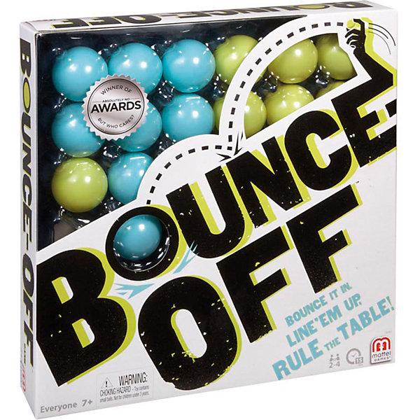Игра Bounce Off, Mattel GamesСтратегические настольные игры<br>Игра Bounce Off, Mattel Games - увлекательная настольная игра, которая позволит вместе провести время вместе с семьей или друзьями. В игре могут участвовать от 2 до 4 игроков. Для начала игры игрок выбирает наугад любую карточку, чтобы определить узор. Затем он заполняет шариками решетку в соответствии с выпавшим узором. Для этого нужно бросить в игровой поддон шарик, следя за тем, чтобы он отскочил минимум один раз прежде, чем попасть в поддон. Выигрывает тот, кто первым завершит узор - он оставляет карточку с узором у себя. Победителем становится игрок, первым собравший три карточки.<br><br>Дополнительная информация:<br><br>- В набор входят 9 карт с заданиями, 16 мячиков и игровая решетка. <br>- Материал: пластик, картон.<br>- Размер игрового поддона: 26 х 26 х 4 см.<br>- Размер упаковки: 26,5 х 26,5 х 5 см.<br><br>Игру Bounce Off, Mattel Games можно купить в нашем интернет-магазине.<br><br>Ширина мм: 272<br>Глубина мм: 269<br>Высота мм: 55<br>Вес г: 413<br>Возраст от месяцев: 84<br>Возраст до месяцев: 156<br>Пол: Унисекс<br>Возраст: Детский<br>SKU: 3630067