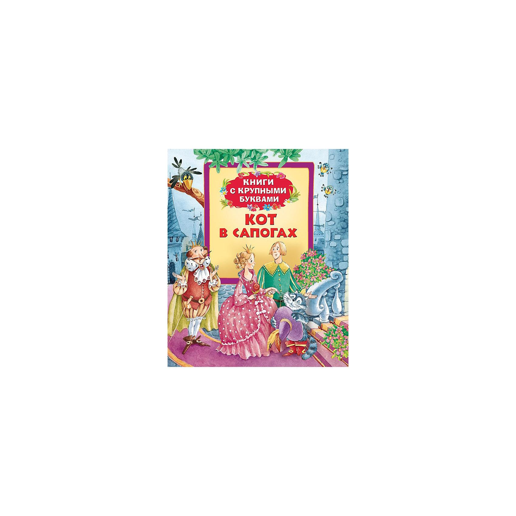 Книга с крупными буквами Кот в сапогах, Ш. ПерроЗарубежные сказки<br>Кот в сапогах, серия Книги с крупными буквами, Росмэн – эта книжка с крупными буквами, предназначена для самостоятельного чтения детьми.<br>Крупный шрифт и знакомые ребенку произведения, рекомендованные для первого чтения, научат малыша легко и быстро складывать слоги в слова, составлять предложения и понимать прочитанное. А большие красочные жизнерадостные иллюстрации на каждой странице помогут ребенку лучше понять текст и вызовут желание дочитать книжку до конца. Читая страницу за страницей, ребенок познакомится с сюжетом сказок и научится лучше читать. В сборник вошли самые известные произведения великих сказочников. Книга представлена сказками: Кот в сапогах, Гадкий утенок. <br><br>Дополнительная информация:<br><br>- Иллюстрации И. Якимовой, И. Зуева.<br>- Тип переплета (обложка): твердая<br>- Размер: 198 x 235 мм.<br>- Количество страниц: 32<br>- Иллюстрации: цветные<br><br>Книгу «Кот в сапогах», серия Книги с крупными буквами, Росмэн можно купить в нашем интернет-магазине.<br><br>Ширина мм: 240<br>Глубина мм: 205<br>Высота мм: 7<br>Вес г: 270<br>Возраст от месяцев: 36<br>Возраст до месяцев: 84<br>Пол: Унисекс<br>Возраст: Детский<br>SKU: 3633661