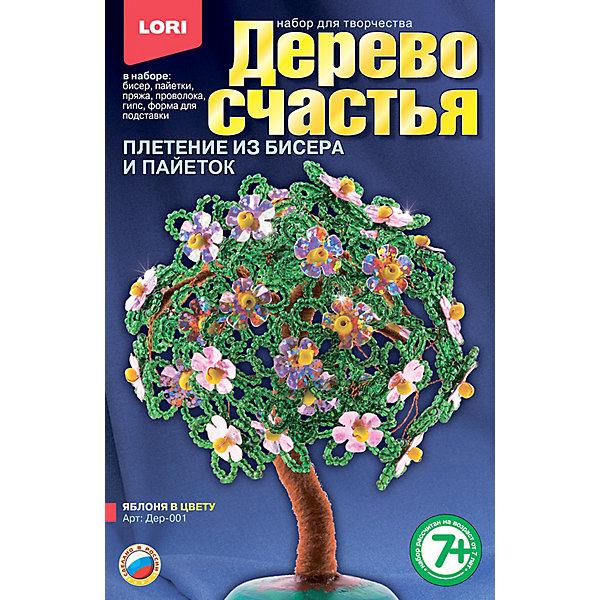 Дерево счастья Яблоня в цвету, LORIНаборы для создания украшений<br>Дерево счастья Яблоня в цвету, LORI (Лори) – чудесный набор для творчества, с помощью которого можно создать свое дерево счастья из бисера и других материалов. <br><br>У юных рукодельниц есть шанс сделать свое дерево счастья, символ любви, красоты, удачи, гармонии. Работа с набором очень увлекательная для ребенка, и будет способствовать развитию воображения, фантазии и навыков моделирования. <br><br>Комплектация: бисер, пайетки, пряжа, проволока, гипс, форма для подставки<br><br>Дополнительная информация:<br><br>-Размеры упаковки: 20 х 13 х 4 см<br><br>Такое чудесное деревце послужит прекрасным подарком для родных и друзей, а тем более, созданное своими руками!<br><br>Набор Дерево счастья Яблоня в цвету, LORI (Лори) можно купить в нашем магазине.<br><br>Ширина мм: 208<br>Глубина мм: 135<br>Высота мм: 40<br>Вес г: 345<br>Возраст от месяцев: 84<br>Возраст до месяцев: 120<br>Пол: Женский<br>Возраст: Детский<br>SKU: 3635119