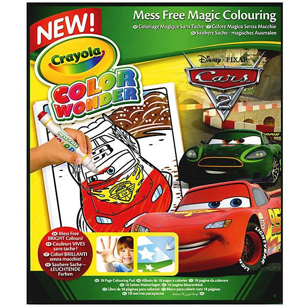 Раскраска с фломастерами Color Wonder, ТачкиРаскраски по номерам<br>Набор Раскраска с фломастерами Color Wonder, Тачки входит в уникальную серию Color Wonder – принадлежностей для детского творчества от Crayola (Крайола). Отличительная черта фломастеров и маркеров этой серии в том, что они могут рисовать только на специальной бумаге. А это значит, что даже если юный художник решить раскрасить что-то неподходящее (к примеру, порисовать на обоях или в книжке), у него ничего не выйдет. <br>В комплект с раскраской из 18 листов входят 5 фломастеров. Их цвета яркие и насыщенные. При этом краска не содержит токсичных веществ, игрушка безопасна для детского здоровья.<br>Для того чтобы придать цвет рисункам из этой раскраски, вы можете использовать не только предложенные в комплекте 5 оттенков (красный, голубой, зеленый, коричневый и желтый), но и отдельно приобрести любые фломастеры и маркеры серии Color Wonder.<br><br>Дополнительная информация:<br><br>Размеры упаковки: 25,5х21х0,3 см.  <br>Вес игрушки: 197 грамм.<br><br>Раскраску с фломастерами Color Wonder, Тачки (Cars) можно купить в нашем магазине.<br><br>Ширина мм: 312<br>Глубина мм: 225<br>Высота мм: 27<br>Вес г: 193<br>Возраст от месяцев: 60<br>Возраст до месяцев: 96<br>Пол: Унисекс<br>Возраст: Детский<br>SKU: 3638598