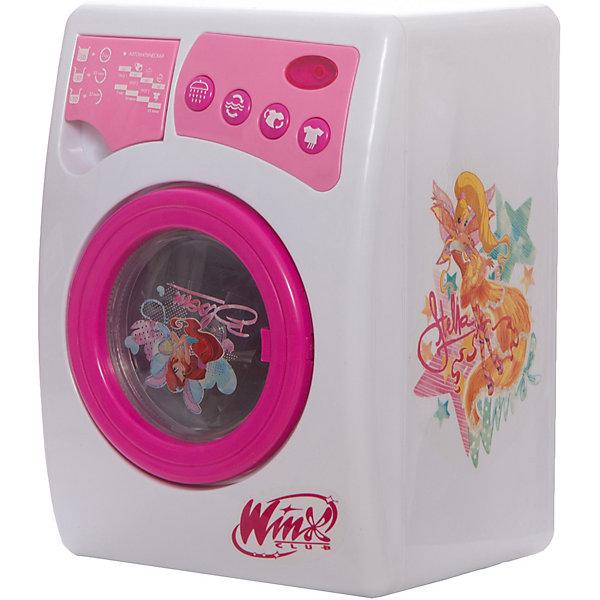 Стиральная машина,  Winx ClubИгрушечная бытовая техника<br>Стиральная машинка Winx (Винкс), Играем вместе, будет по достоинству оценена маленькой хозяйкой. Яркая машинка выполнена в привлекательном для девочек дизайне по мотивам популярного мультсериала Winx Club и украшена изображениями волшебных фей Winx. <br><br>Игрушка реалистична и обладает функциями настоящей стиральной машинки: имеется дверца с окошком, барабан для одежды, отсек для стирального порошка. В машинку можно залить воду и машинка начнет стирать, при этом ее работа будет сопровождаться характерным звуком работающей стиральной машины. На панели имеются кнопочки, с помощью которых можно выбрать режим стирки и включить звуковые и световые эффекты.<br><br>Дополнительная информация:<br><br>- Материал: пластик.<br>- Требуются батарейки: 3 х АА (не входят в комплект).<br>- Размер игрушки: 18 х 17 х 25 см.<br>- Размер упаковки: 17,3 х 18,5 х 25 см.<br>- Вес: 1,08 кг.<br>- Серия: Winx (Винкс) - Школа Волшебниц<br><br>Стиральную машину Winx Club, Играем вместе можно купить в нашем интернет-магазине.<br><br>Ширина мм: 180<br>Глубина мм: 250<br>Высота мм: 170<br>Вес г: 1140<br>Возраст от месяцев: 36<br>Возраст до месяцев: 84<br>Пол: Женский<br>Возраст: Детский<br>SKU: 3644043