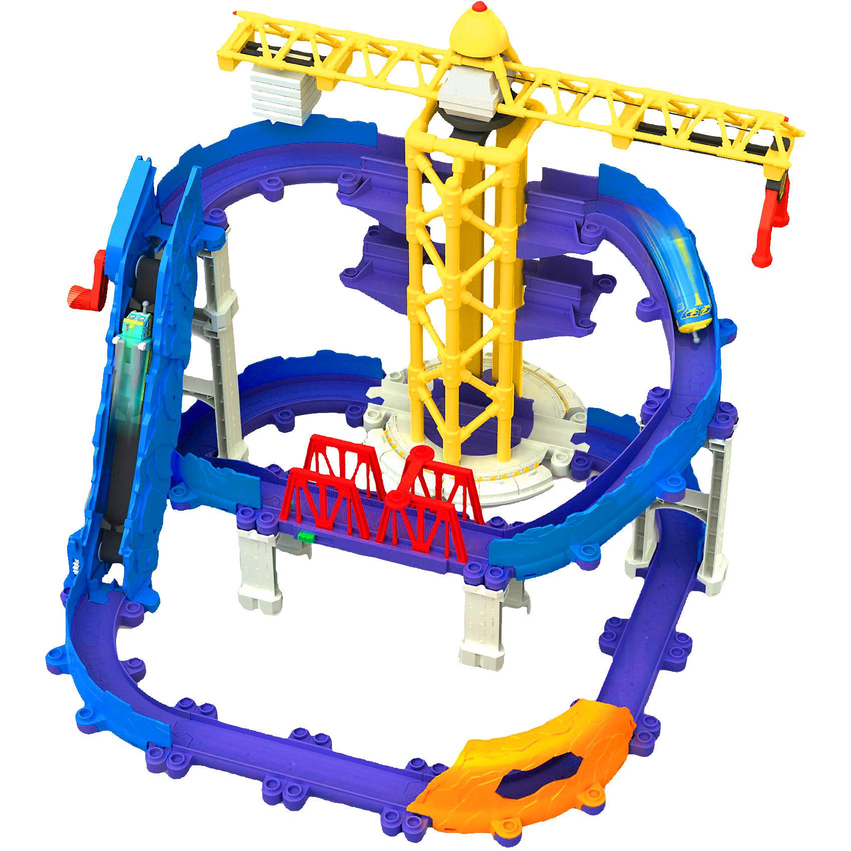 Игровой набор Большая стройка, ЧаггингтонНабор понравится всем любителям конструкторов, а особенно фанатам мультсериала Чаггингтон (Chuggington). Начните свою большую стройку вместе с веселыми паровозиками! Набор состоит из большого железнодорожного трека, тоннеля, моста, и подъемного крана. Детали дороги имеют прочное соединение, при этом их очень легко собирать и разбирать. Маленький паровозик Брюстер - точная копия героя любимого мультфильма. <br>С этим набором ваш ребенок сможет интересно и с пользой проводить время. Собирание конструктора дарить массу положительных эмоций, а так же прекрасно развивает мелкую моторику, логическое мышление и фантазию. С веселыми паровозиками дети смогут проигрывать любимые ситуации из мультфильма или же придумывать свои новые истории. Все наборы этой серии сочетаются друг с другом. Собери все наборы и построй свой настоящий Чаггингтон!<br><br>Дополнительная информация:<br><br>- Материал: пластик.<br>- Комплектация: трек, опоры, кран, мост, тоннель, паровозик Брюстер. <br>- Размер паровозика: 8 х3х4 см<br><br>Игровой набор Большая стройка, Чаггингтон (Chuggington) можно купить в нашем магазине.<br><br>Ширина мм: 521<br>Глубина мм: 360<br>Высота мм: 165<br>Вес г: 2920<br>Возраст от месяцев: 36<br>Возраст до месяцев: 60<br>Пол: Мужской<br>Возраст: Детский<br>SKU: 3645186