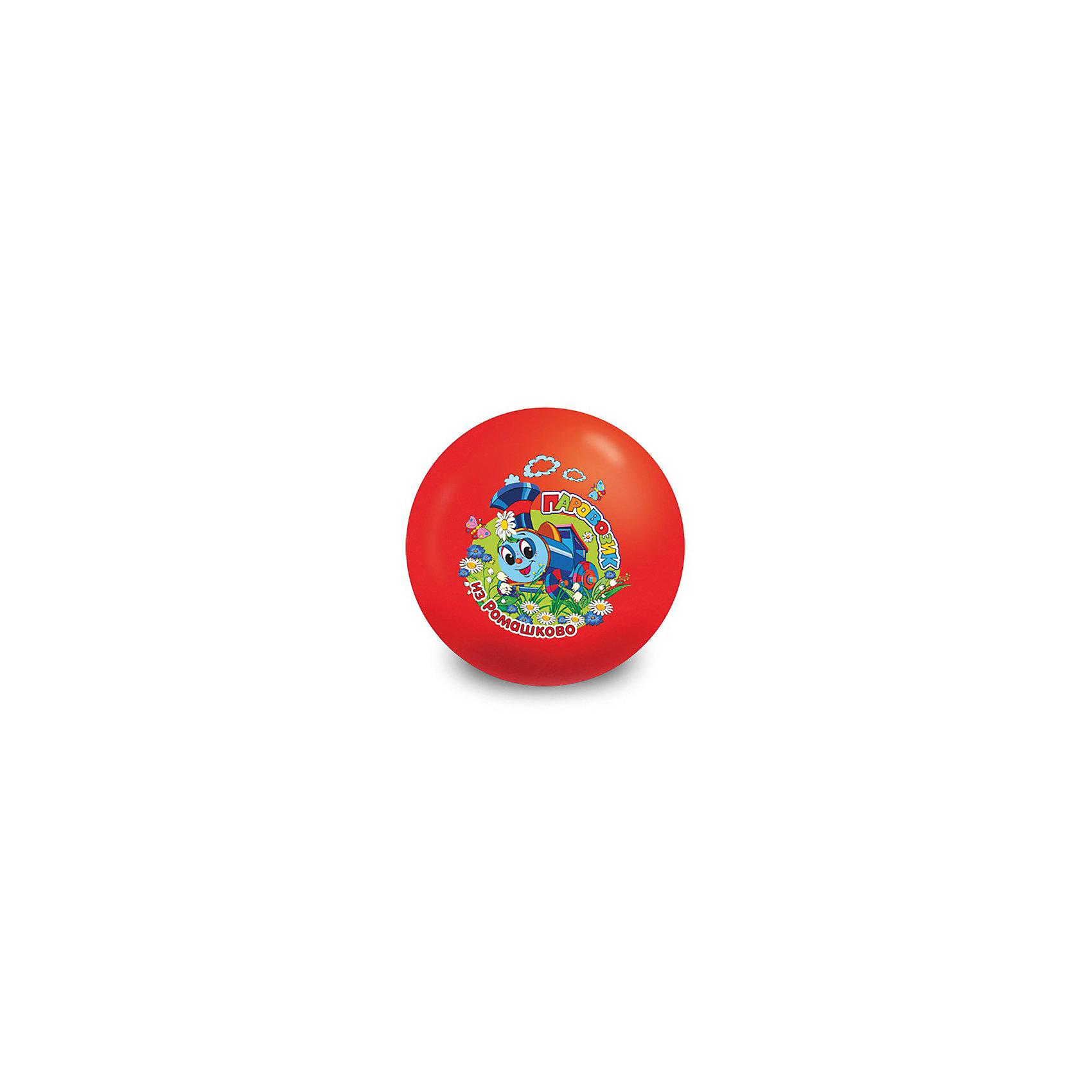 Мяч детский Паровозик из Ромашково, Играем вместеМячи детские<br>Мяч детский Паровозик из Ромашково, Играем вместе. <br><br>- Диаметр: 23 см. Поставляется в сдутом виде, насос в комплект не входит.<br><br>Ширина мм: 230<br>Глубина мм: 230<br>Высота мм: 120<br>Вес г: 100<br>Возраст от месяцев: 36<br>Возраст до месяцев: 144<br>Пол: Унисекс<br>Возраст: Детский<br>SKU: 3645353