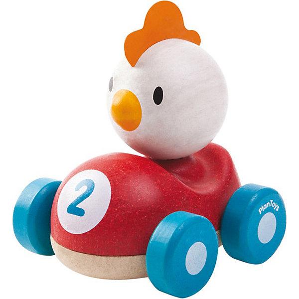 Курочка, Plan ToysМашинки<br>Деревянная машинка Курочка – яркая забавная игрушка для малыша, с которой он сможет устраивать настоящие скоростные гонки. <br><br>Миниатюрные машинки всегда были и остаются одними из самых любимых игрушек не только мальчиков, но и девочек. Красочная машинка из дерева с забавной курочкой понравится каждому малышу. Деревянная гоночная машинка с белой курочкой выполнена в красном цвете с синими колесами. <br><br>Игрушка изготовлена из высококачественного каучукового дерева с использованием нетоксичных красок и обработанными краями, что абсолютно исключает вероятность травмирования. <br><br>Деревянные игрушки Plan Toys (План Тойс) развивают у ребенка моторику, логику и пространственное мышление, зрительное восприятие и внимание малыша.<br><br>Дополнительная информация:<br><br>Материал: каучуковое дерево<br>Размер: 9.1 x 8.8 x 10 см<br><br>Курочку, Plan Toys (План Тойс) можно купить в нашем магазине.<br><br>Ширина мм: 117<br>Глубина мм: 101<br>Высота мм: 99<br>Вес г: 256<br>Возраст от месяцев: 12<br>Возраст до месяцев: 36<br>Пол: Унисекс<br>Возраст: Детский<br>SKU: 3648148