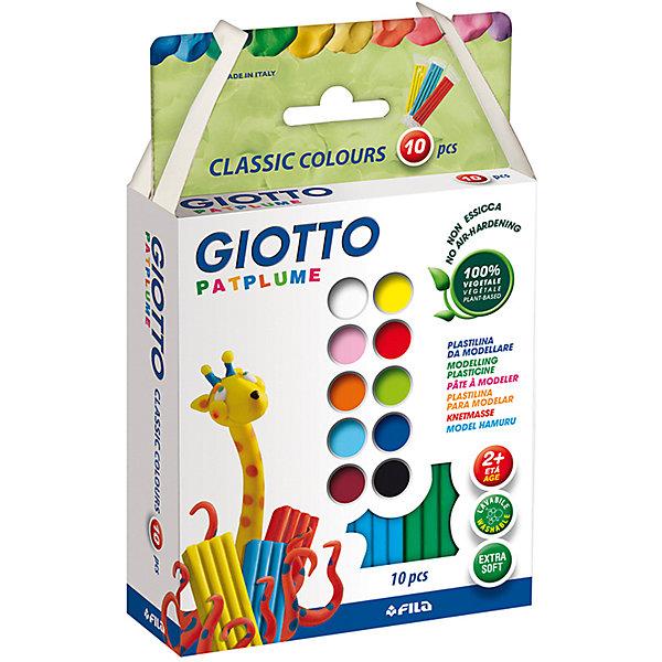 Экстра-мягкий пластилин 10 цветов х 20 гРисование и лепка<br>Характеристики товара:<br><br>• в комплекте: пластилин 10 цветов;<br>• вес одного брусочка: 20 грамм;<br>• размер упаковки: 18,3х11,1х4 см;<br>• вес: 244 грамма;<br>• возраст: от 2 лет.<br><br>Набор Giotto PATPLUME содержит пластилин, выполненный в десяти ярких цветах. Пластилин изготовлен на растительной основе с добавлением пищевых красителей, поэтому он полностью безопасен для маленьких детей. Даже при проглатывании пластилин не нанесет вреда малышу.<br><br>Пластилин Giotto PATPLUME хорошо размягчается, не прилипает к рукам, а также легко смывается  с любых поверхностей. Яркие цвета подходят для занятий лепкой и изготовления поделок.<br><br>Giotto (Джотто) PATPLUME пластилин. 10 цв х 20 гр можно купить в нашем интернет-магазине.<br>Ширина мм: 187; Глубина мм: 113; Высота мм: 43; Вес г: 241; Возраст от месяцев: 24; Возраст до месяцев: 2147483647; Пол: Унисекс; Возраст: Детский; SKU: 3650077;