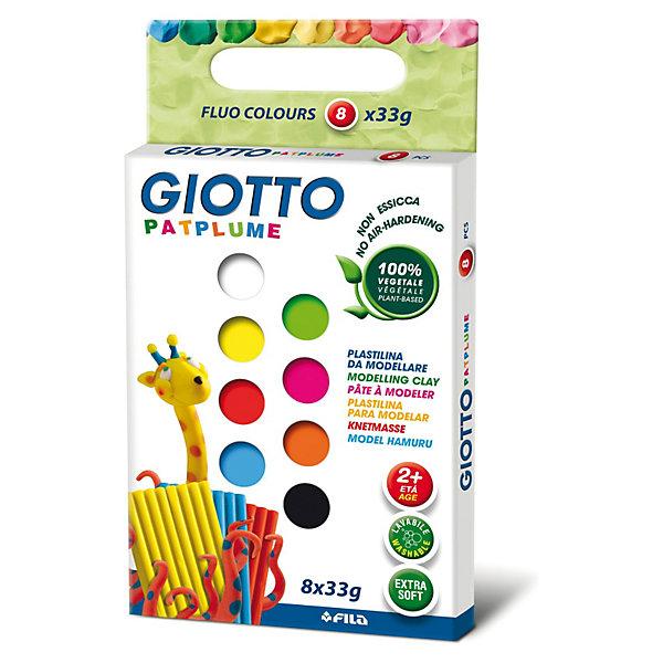 Экстра-мягкий пластилин 8 цв х 33 г, неоновые цвета.Рисование и лепка<br>Характеристики товара:<br><br>• в комплекте: пластилин 8 цветов;<br>• вес одного брусочка: 33 грамма;<br>• размер упаковки: 15х10х20 см;<br>• вес: 270 грамм;<br>• возраст: от 2 лет.<br><br>Набор Giotto PATPLUME содержит пластилин, выполненный в восьми неоновых цветах. Пластилин изготовлен на растительной основе с добавлением пищевых красителей, поэтому он полностью безопасен для маленьких детей. Даже при проглатывании пластилин не нанесет вреда малышу.<br><br>Пластилин Giotto PATPLUME хорошо размягчается, не прилипает к рукам, а также легко смывается с любых поверхностей. Яркие неоновые цвета подходят для занятий лепкой и изготовления поделок.<br><br>Giotto (Джотто) PATPLUME пластилин. 8 цв х 33 гр Флуоресцентные цвета можно купить в нашем интернет-магазине.<br><br>Ширина мм: 294<br>Глубина мм: 215<br>Высота мм: 106<br>Вес г: 857<br>Возраст от месяцев: 24<br>Возраст до месяцев: 192<br>Пол: Унисекс<br>Возраст: Детский<br>SKU: 3650079