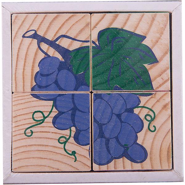 Кубики Фрукты-ягоды, 4 штуки, ТомикКубики<br>Кубики Фрукты-ягоды, 4 штуки, Томик - это одна из самых популярных и необходимых игрушек для малыша.<br>Кубики Фрукты-ягоды из серии Сложи рисунок позволят малышу собрать шесть картинок с изображением ягод и фруктов. На гранях кубиков изображены спелая вишня, аппетитная груша, гроздь винограда, арбуз, лимон и яблоко. В комплект входят: 4 кубика и 6 картинок с образцами сборки. Положите картинку-образец на дно коробочки и вместе с ребенком ищите нужный кубик, затем укладывайте его на образец. Первые картинки выкладывайте вместе с ребенком, затем он уже будет делать это самостоятельно. Познакомьте ребенка с названиями фруктов и ягод, расскажите, где они растут, что из них можно приготовить - добавляя в активный словарь ребенка новые слова и понятия. Удобные по размеру грани кубика (4 см) позволяют играть в них даже самым маленьким. Кроме того, кубики можно запросто использовать как конструктор — строить домики, башни и крепости — фантазия ребенка не будет ограничена ничем. Игра с кубиками развивает зрительное восприятие, наблюдательность и внимание, мелкую моторику рук. Ребенок научится складывать целостный образ из частей, определять детали изображения. Красочные кубики изготовлены из древесины хвойных пород. Рисунки нанесены методом шелкографии. Изображения очень износоустойчивые. Материалы экологически чистые и имеют гигиенические заключения, разрешающие изготовление из них детских игрушек.<br><br>Дополнительная информация:<br><br>- Количество кубиков: 4<br>- Размер кубика: 4 х 4 х 4 см.<br>- Размер упаковки: 9 х 9 х 4 см.<br>- Вес: 0,175 кг.<br>- Упаковка: картонная коробка без крышки<br><br>Кубики Фрукты-ягоды, 4 штуки, Томик можно купить в нашем интернет-магазине.<br>Ширина мм: 90; Глубина мм: 90; Высота мм: 40; Вес г: 180; Возраст от месяцев: 24; Возраст до месяцев: 60; Пол: Унисекс; Возраст: Детский; SKU: 3650279;