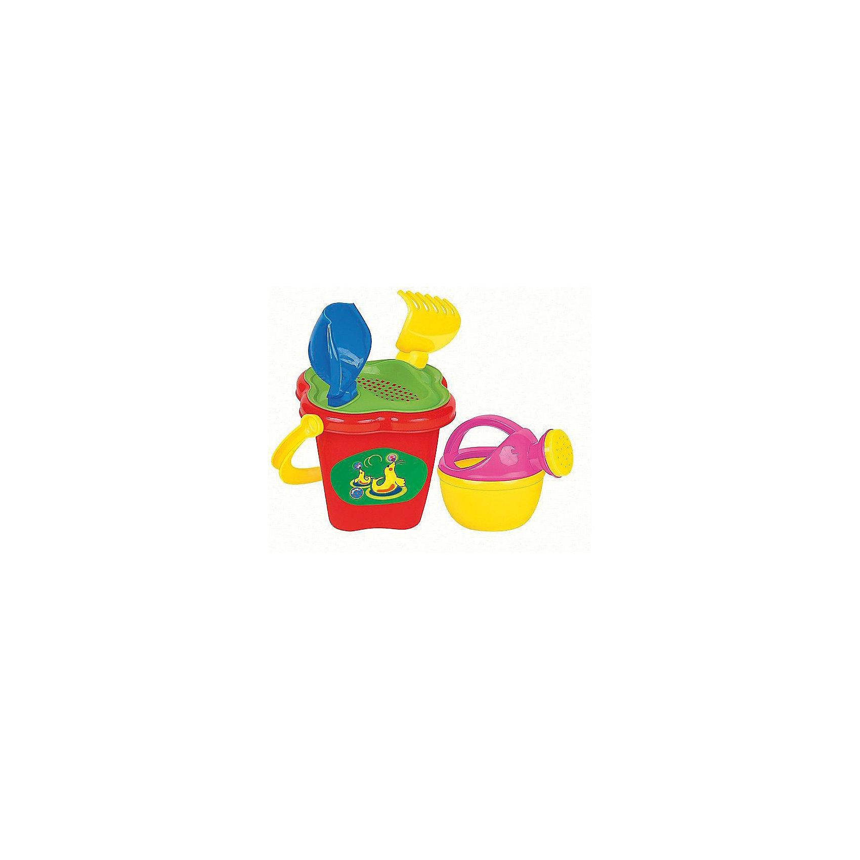 Песочный набор №237 (5 предметов), ПолесьеИграем в песочнице<br>Песочный набор №237 (5 предметов), Полесье идеально подходит для веселых игр на природе!<br><br>Игра с песком и водой развивает фантазию и воображение, конструкторские способности, способствует развитию тактильных ощущений, мелкой и крупной моторики рук ребёнка, а также его двигательной активности.<br><br>Комплектация: ведро-цветок, ситечко-цветок, совок, грабельки, лейка малая<br><br>Дополнительная информация:<br><br>-Материалы: пластмасса<br><br>Набор для песка, изготовленный из прочного безопасного пластика, отлично подойдет ребенку для различных игр на свежем воздухе.<br><br>Песочный набор №237 (5 предметов), Полесье можно купить в нашем магазине.<br><br>Ширина мм: 125<br>Глубина мм: 125<br>Высота мм: 195<br>Вес г: 150<br>Возраст от месяцев: 12<br>Возраст до месяцев: 60<br>Пол: Унисекс<br>Возраст: Детский<br>SKU: 3650294